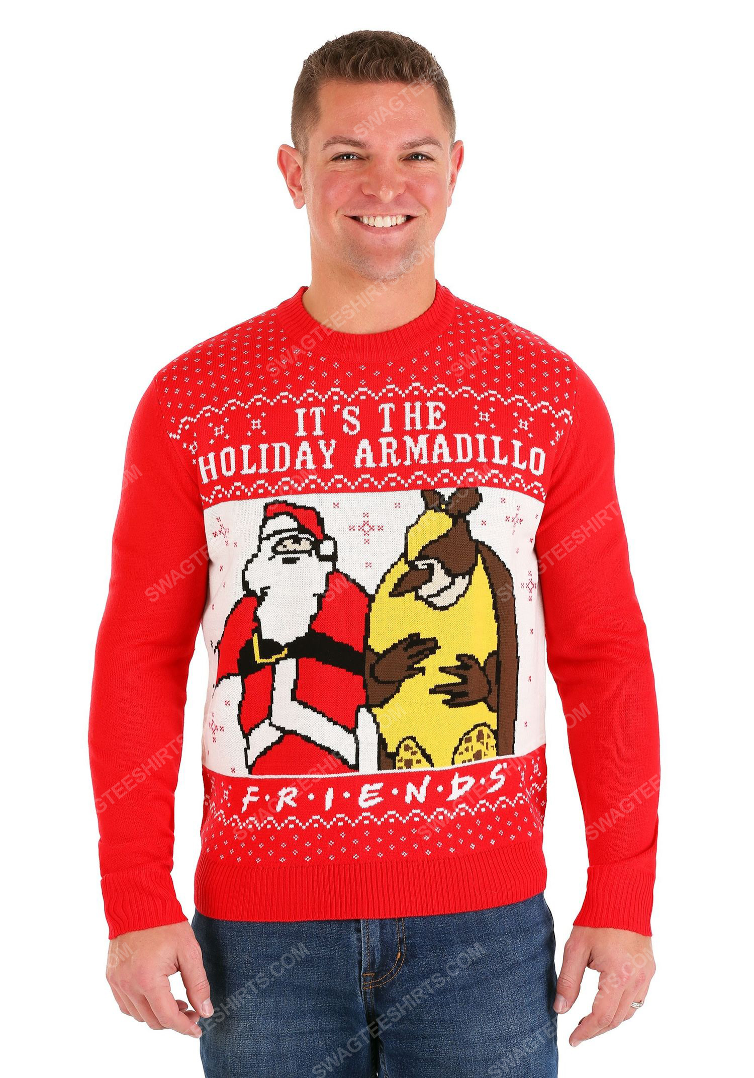 TV show friends it's the holiday armadillo full print ugly christmas sweater 2 - Copy (2)