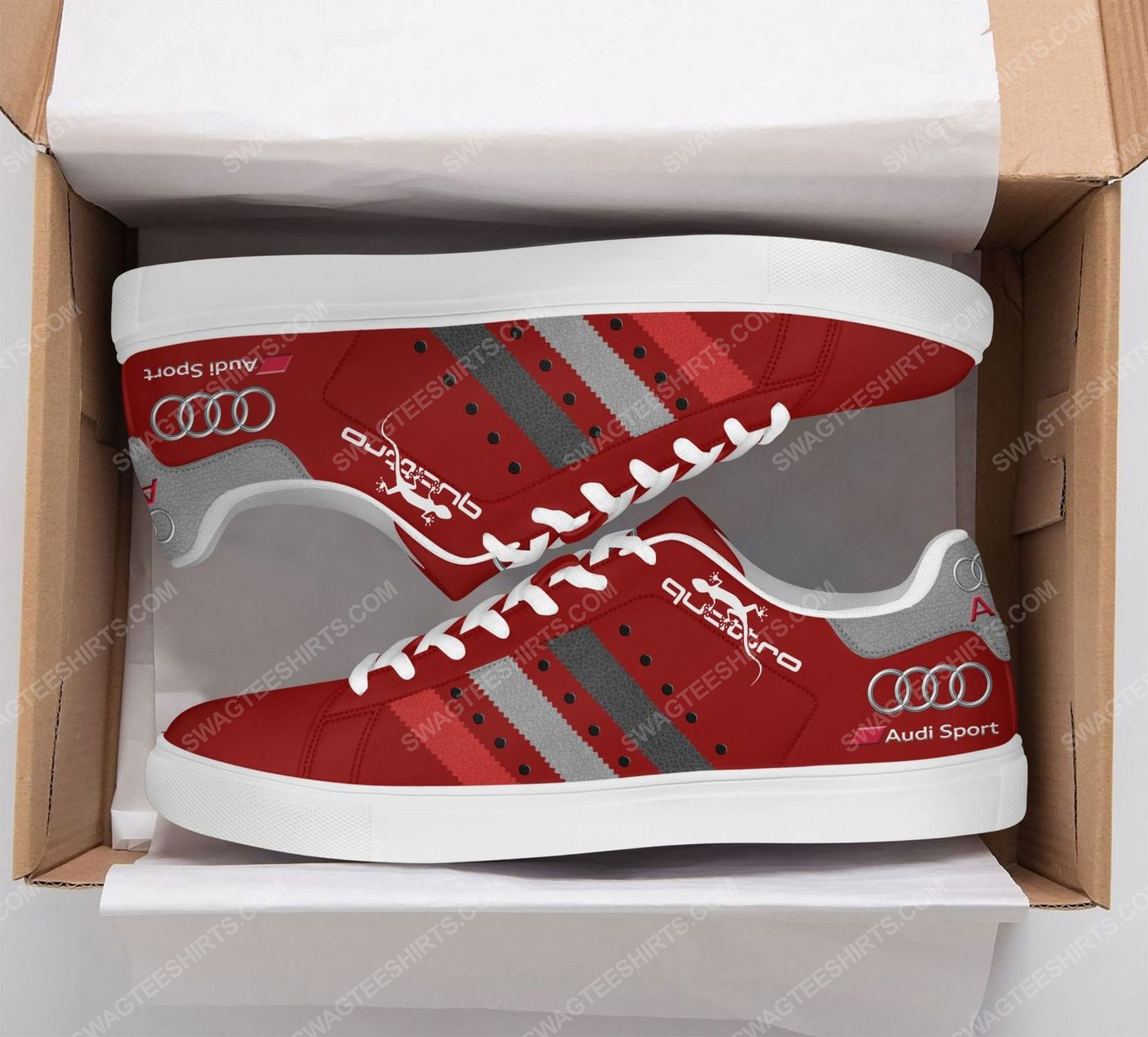 The audi quattro version red stan smith shoes 2