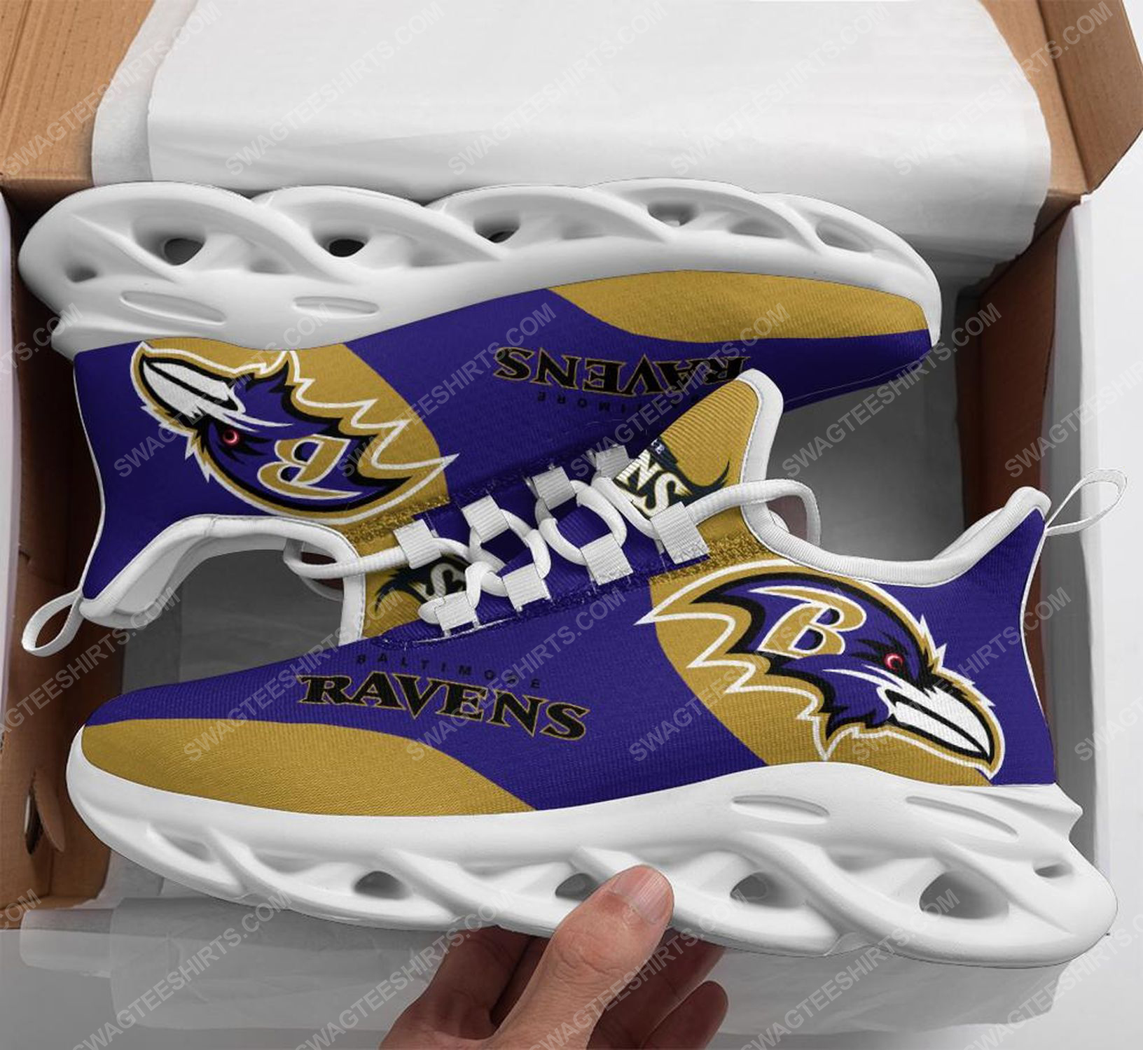 The baltimore ravens football team max soul shoes 1 - Copy (2)