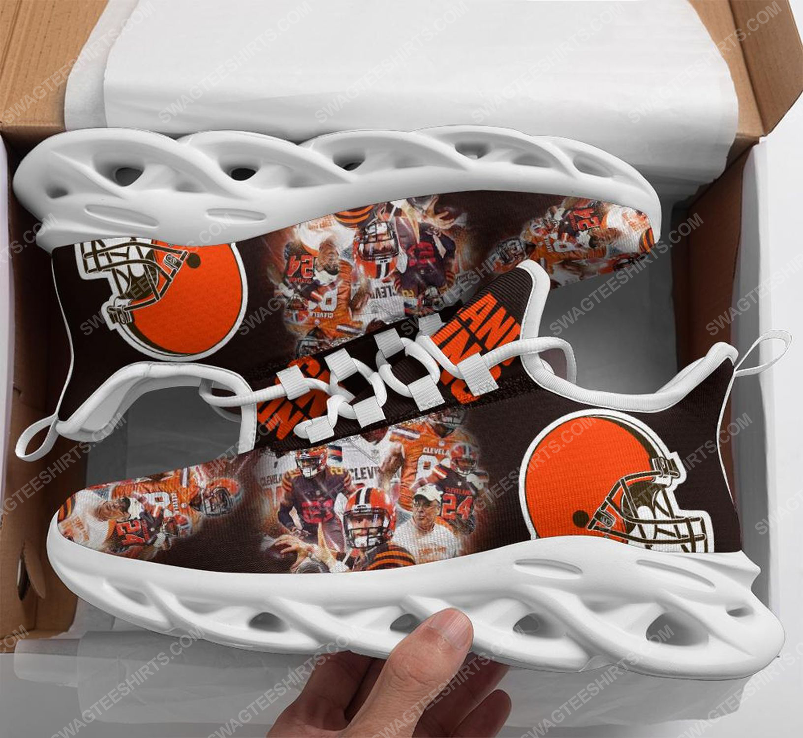 The cleveland browns football team max soul shoes 1 - Copy (2)