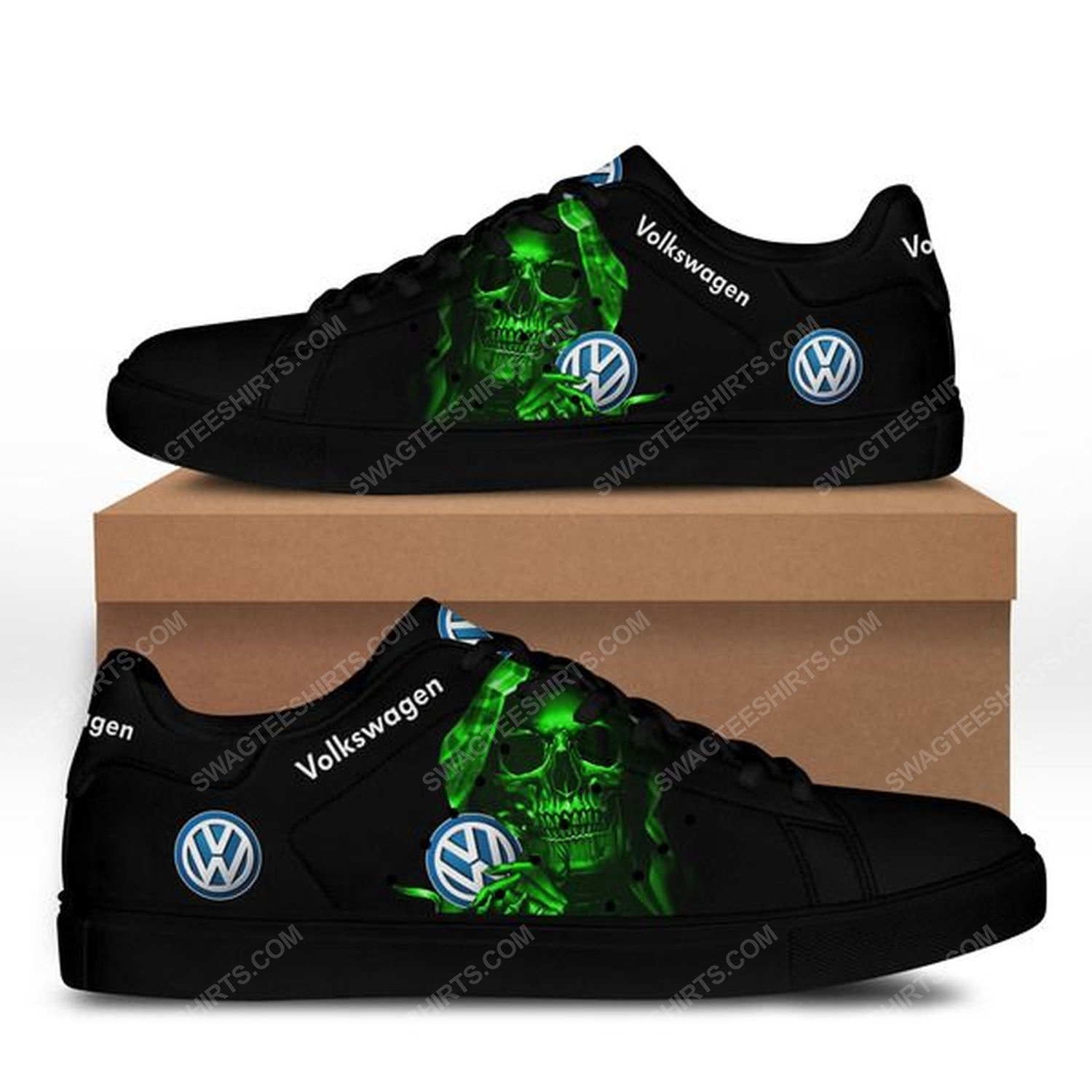 Volkswagen and skull stan smith shoes - black 1