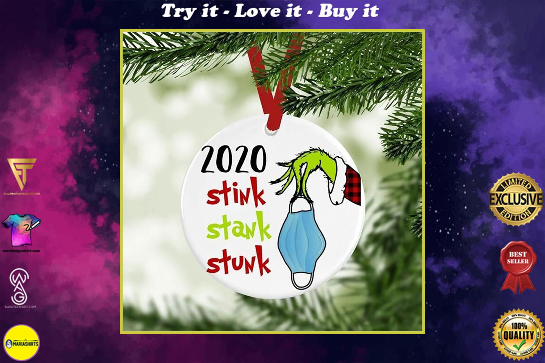 2020 stink stank stunk christmas ornament