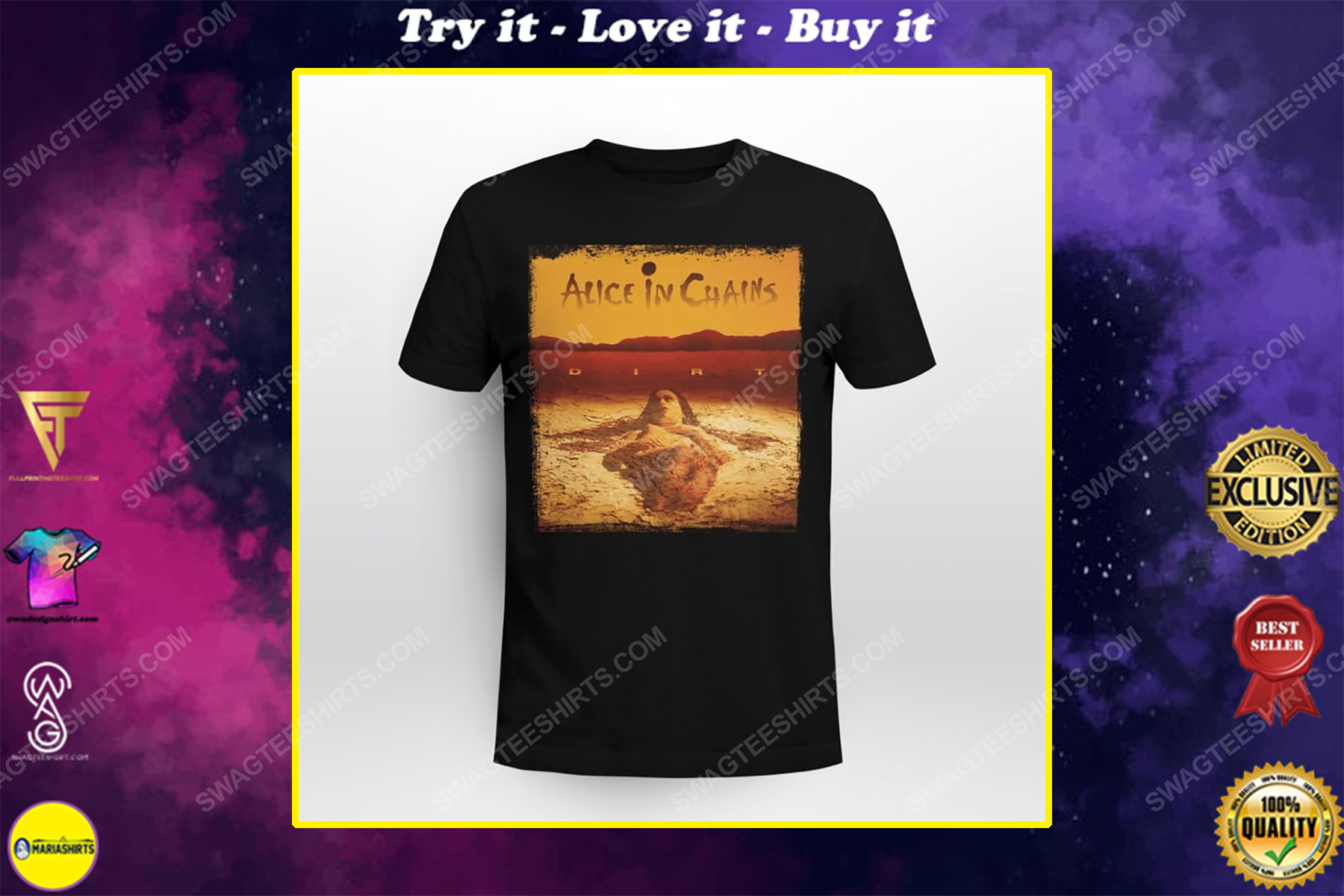 American rock band alice in chains shirt