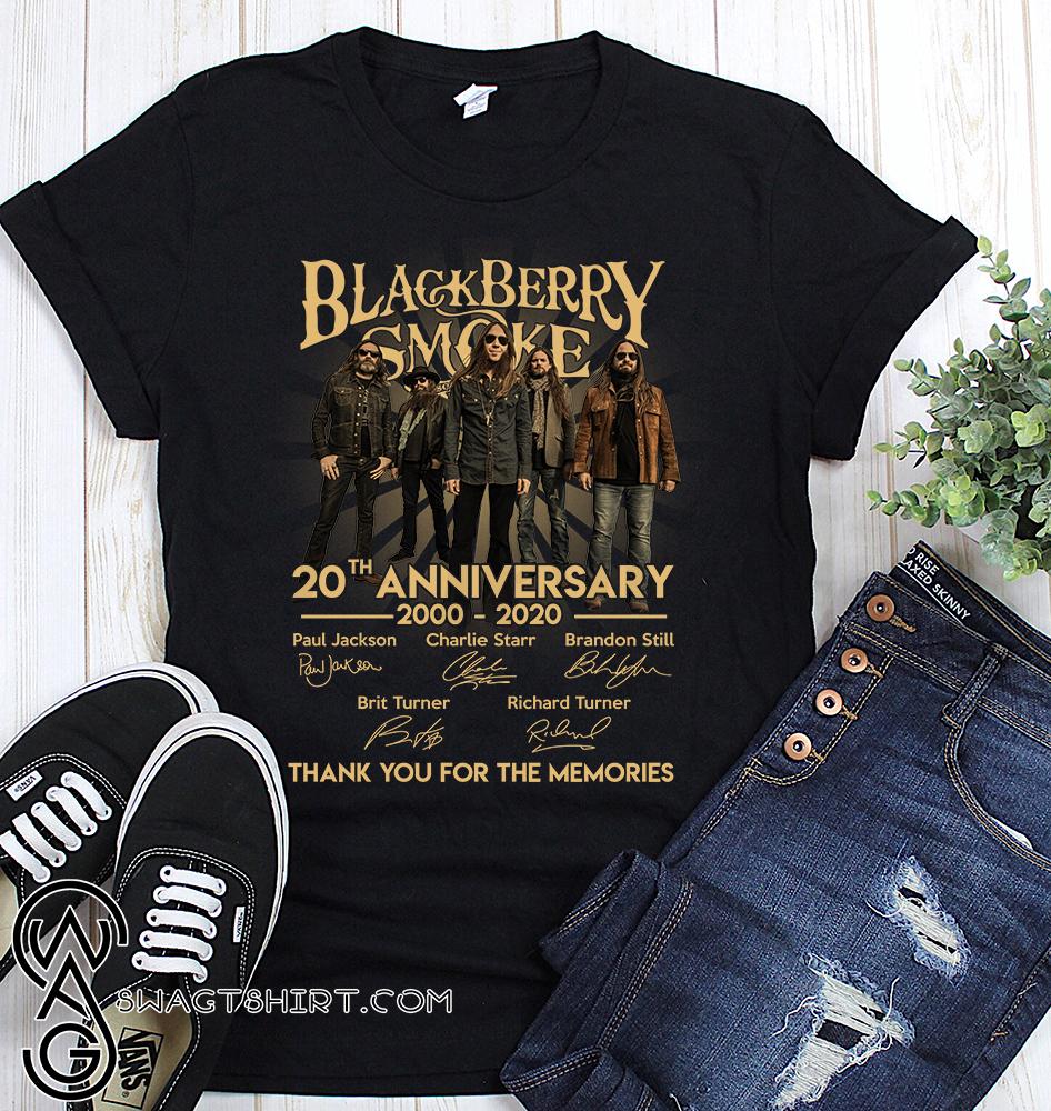 Blackberry smoke 20th anniversary 2000-2020 signatures shirt