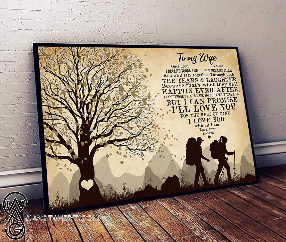 Camping to my wife i love you poster