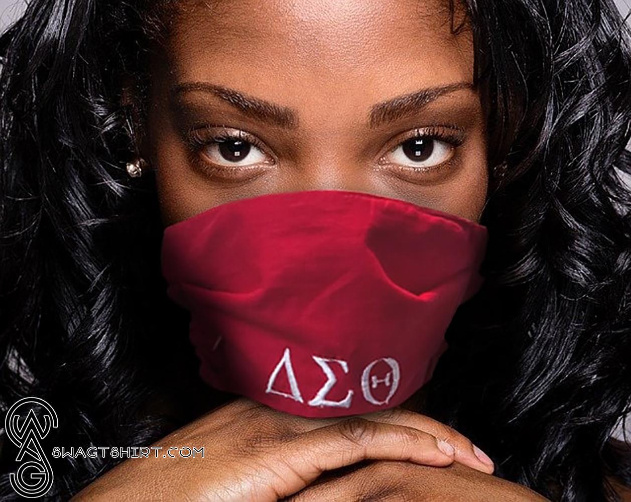 Delta sigma theta with symbols anti-dust cotton face mask