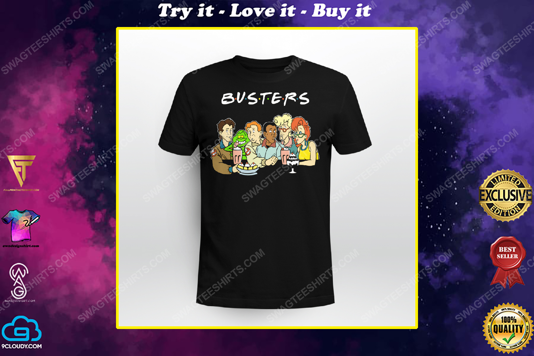 Friends tv show ghostbusters characters shirt