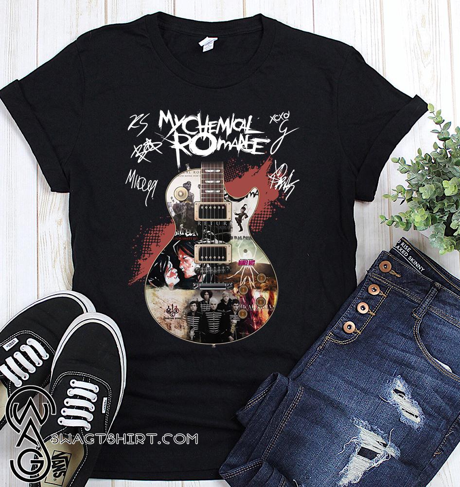 Guitar my chemical romance signatures shirt