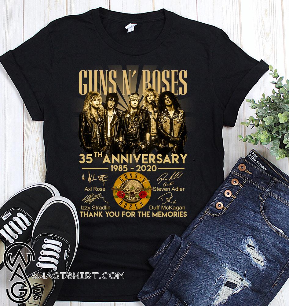 Guns n' roses 35th anniversary 1985-2020 signatures shirt