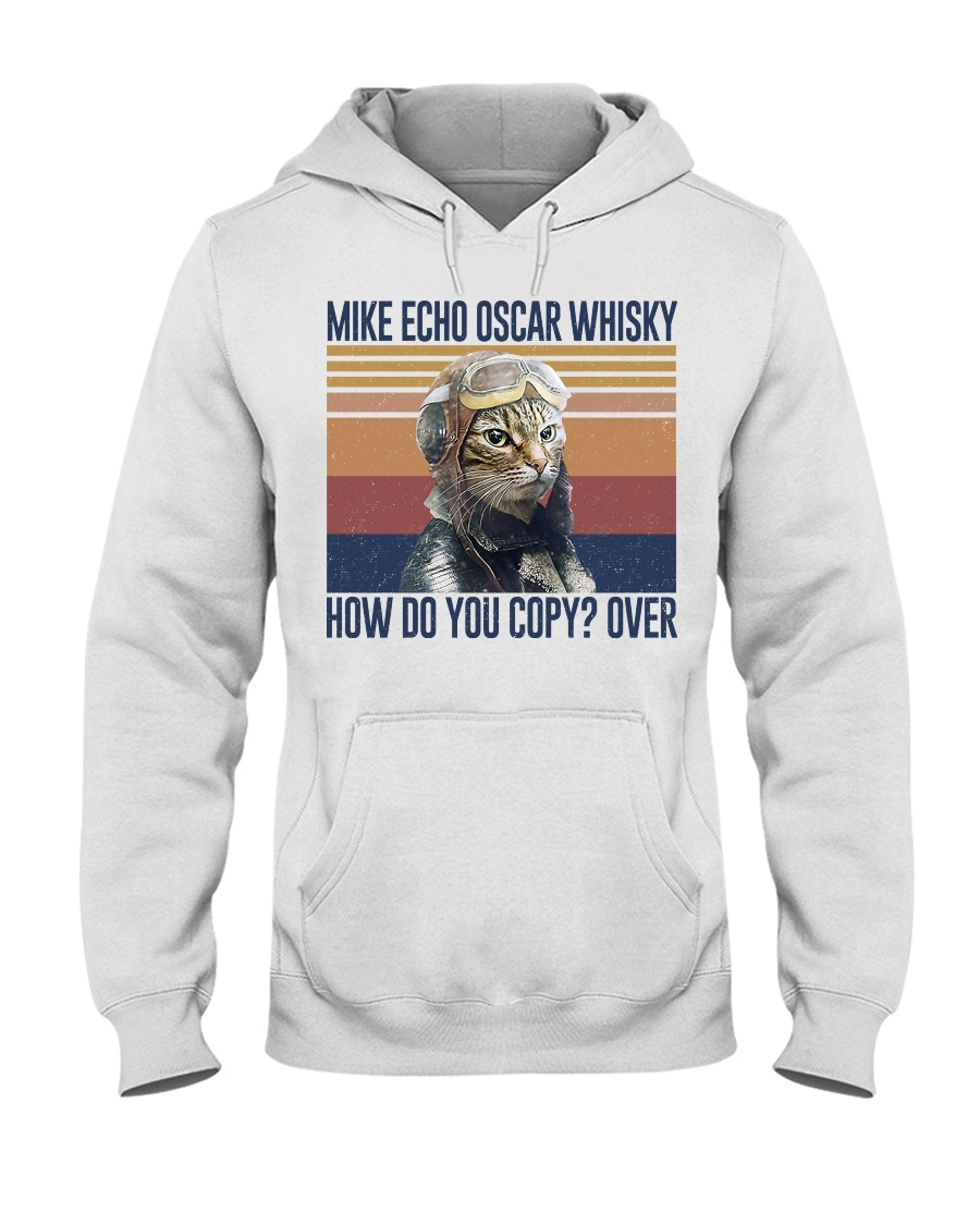 vintage flying cat mike echo oscar whisky how do you copy over hoodie