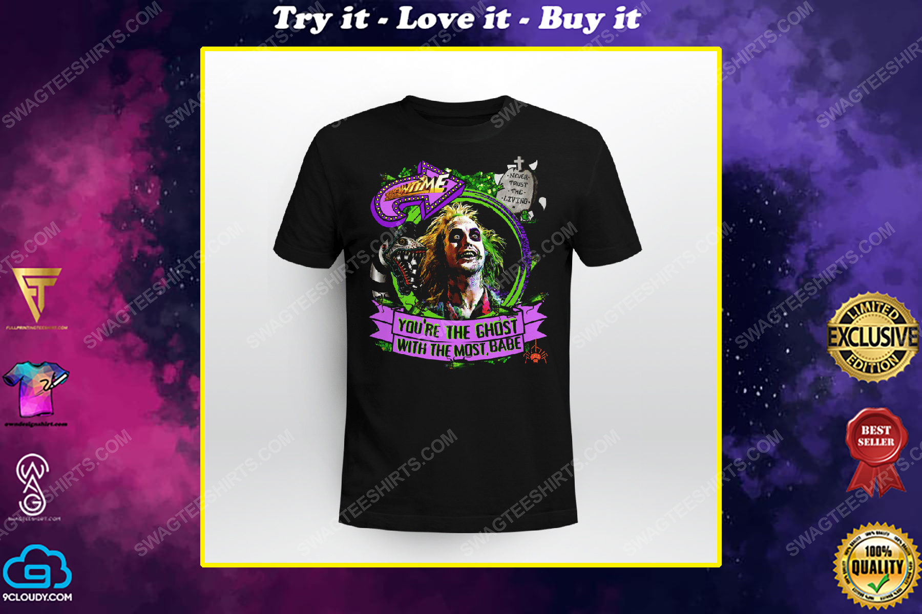 Halloween beetlejuice you're the ghost with the most babe shirt