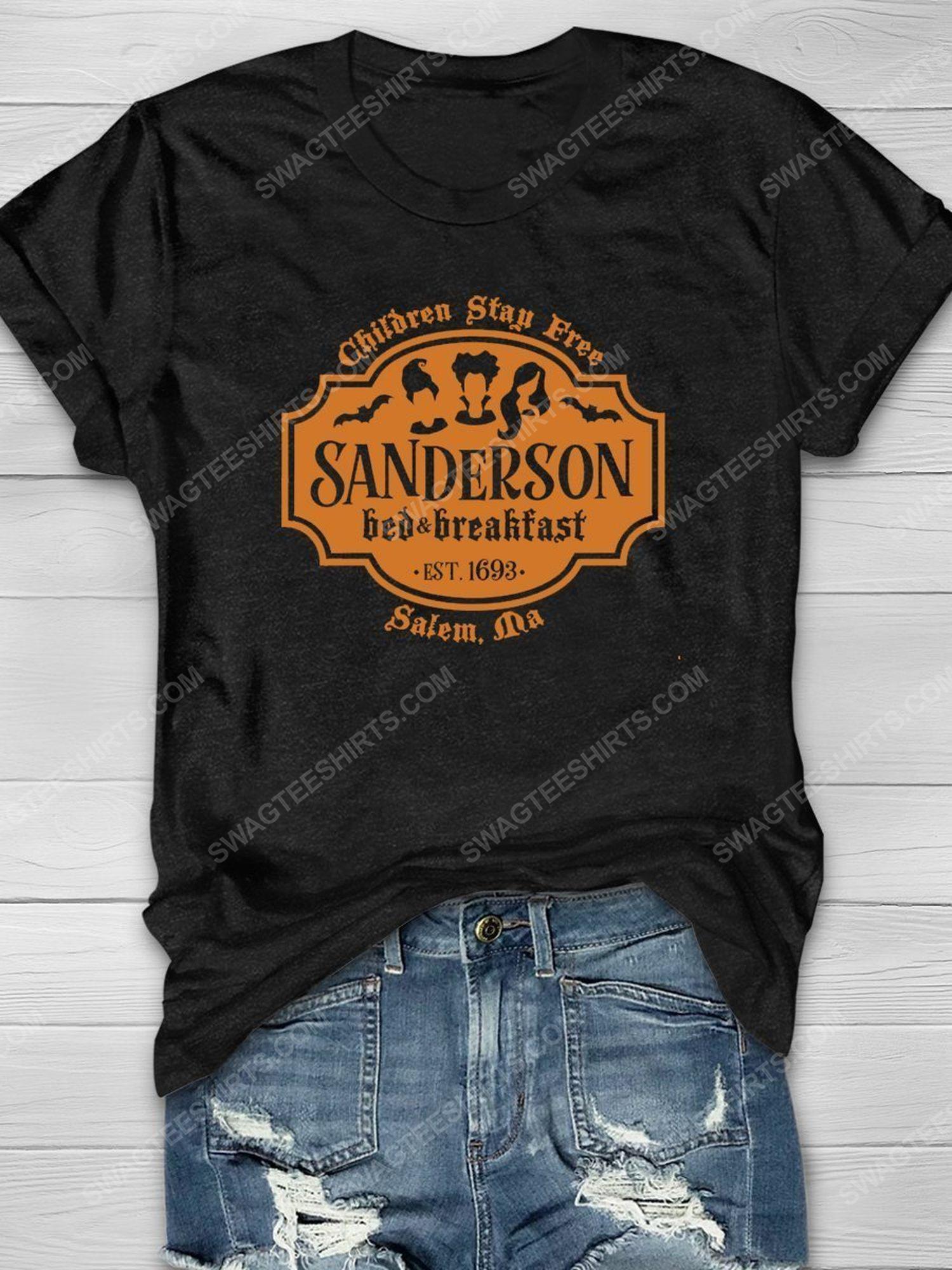 Halloween children stay free sanderson bed breakfast shirt 1 - Copy