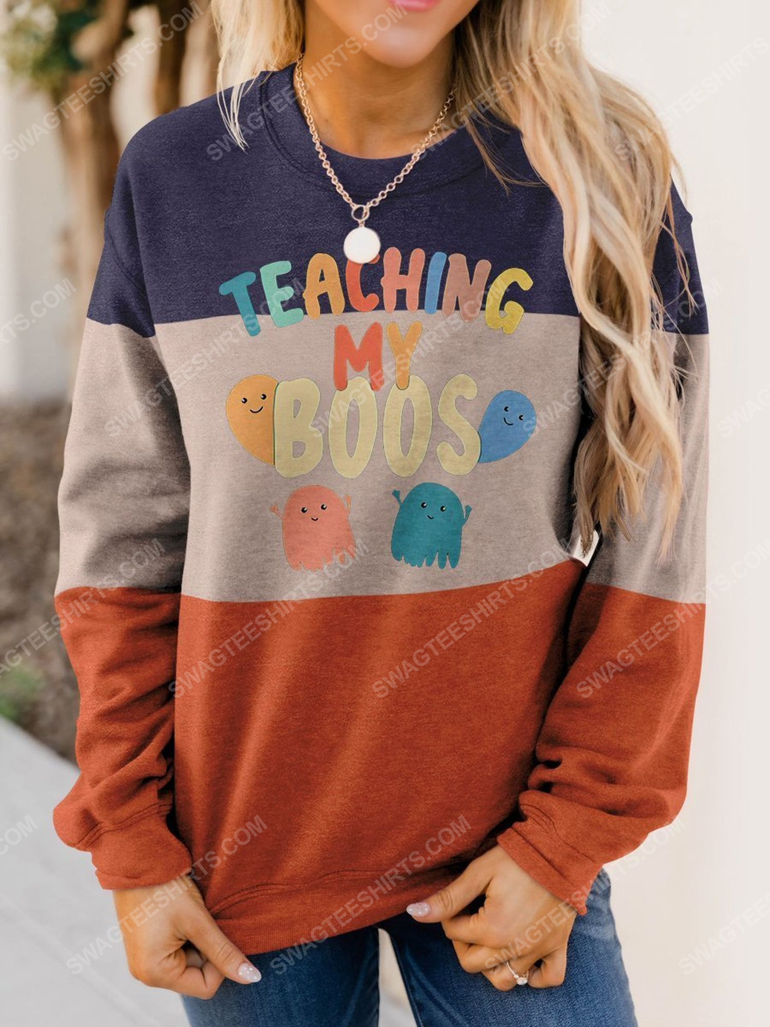 Halloween for teacher teaching my boos full print shirt 1 - Copy (2)