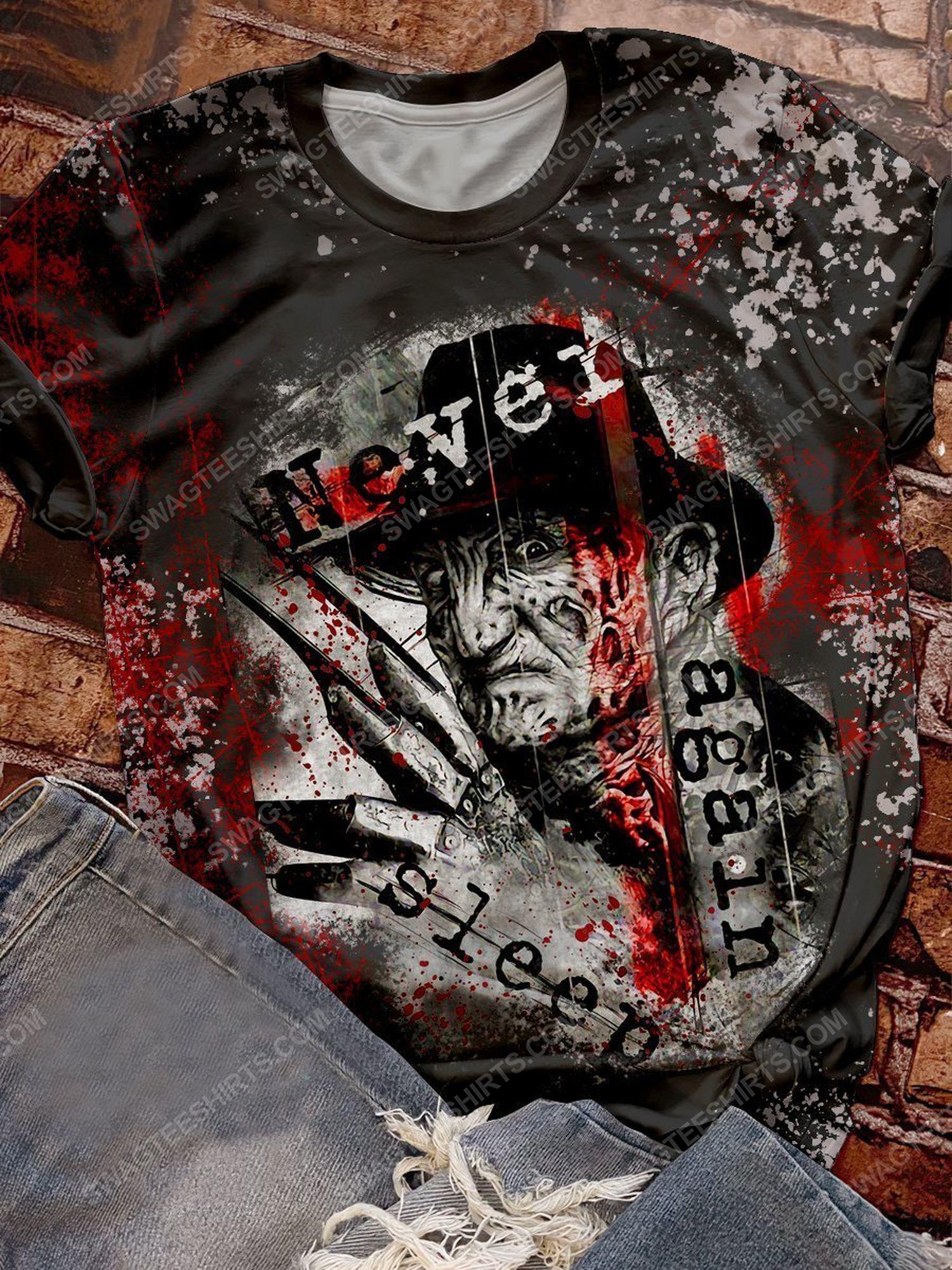 Halloween freddy's nightmares never sleep again shirt 1 - Copy (2)