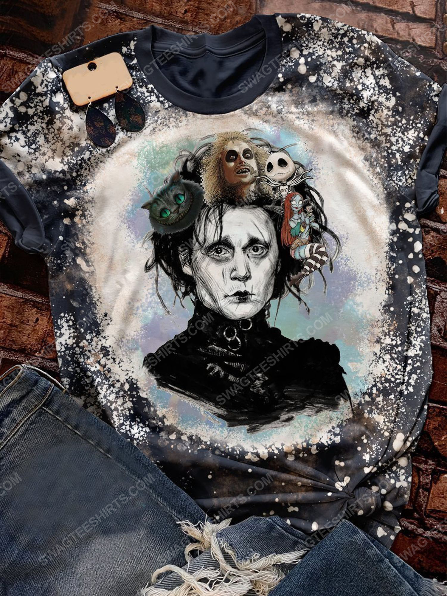 Halloween horror movie characters all over print shirt 1 - Copy (2)