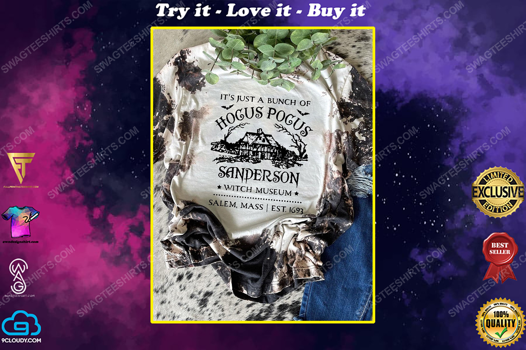 Halloween it's just a bunch of hocus pocus sanderson witch museum shirt