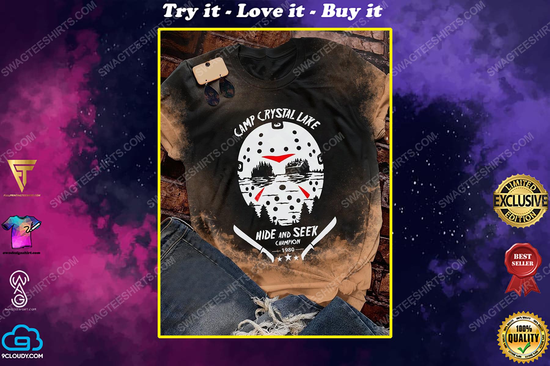 Halloween jason camp crystal lake hide and seek champion shirt
