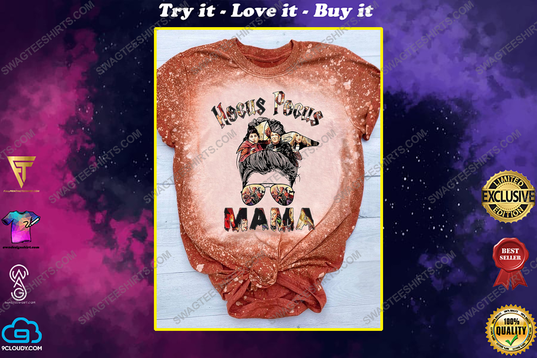 Halloween mama hocus pocus movie bleached shirt