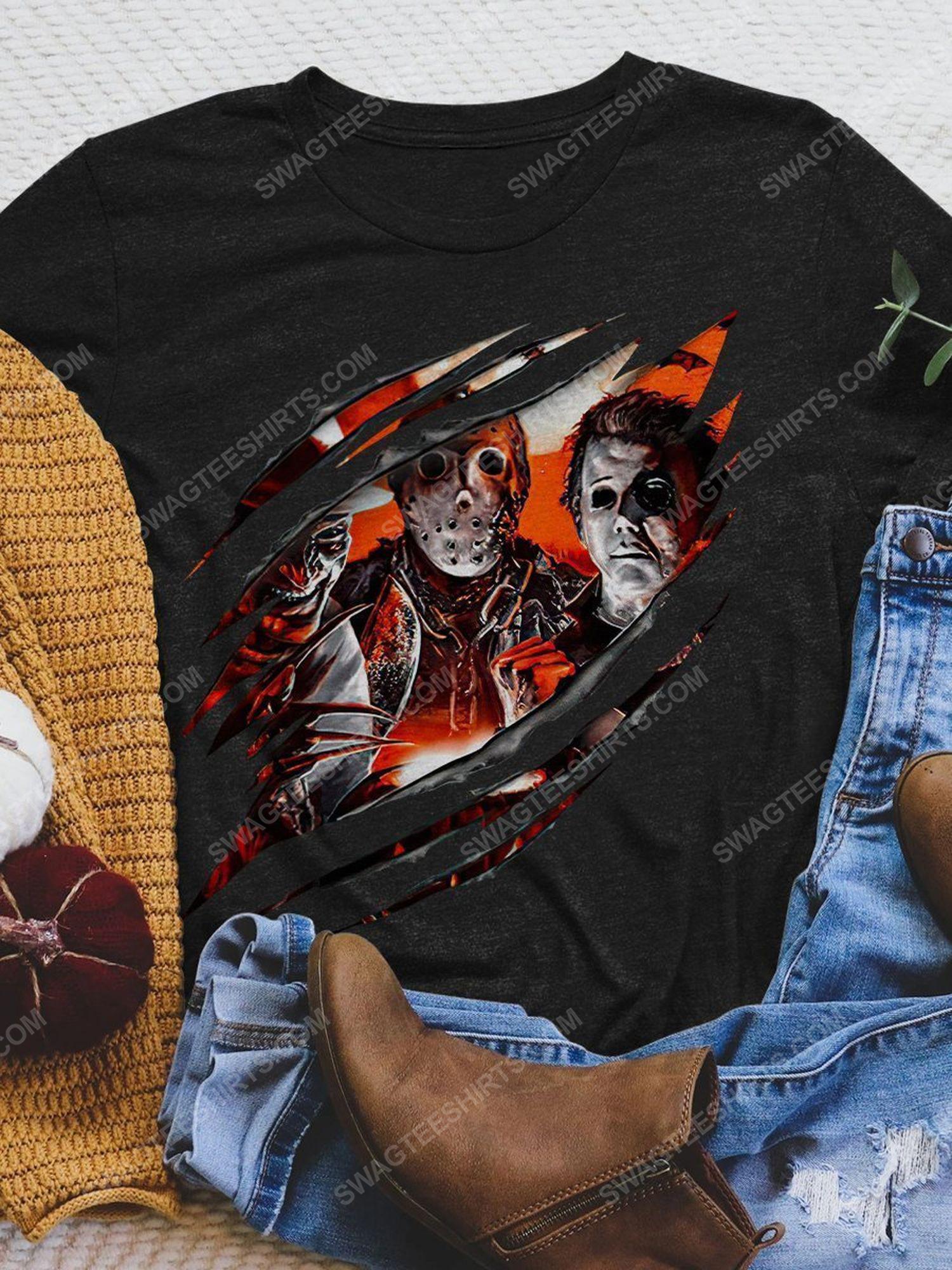 Halloween michael myers jason voorhees and freddy krueger shirt 1 - Copy (2)