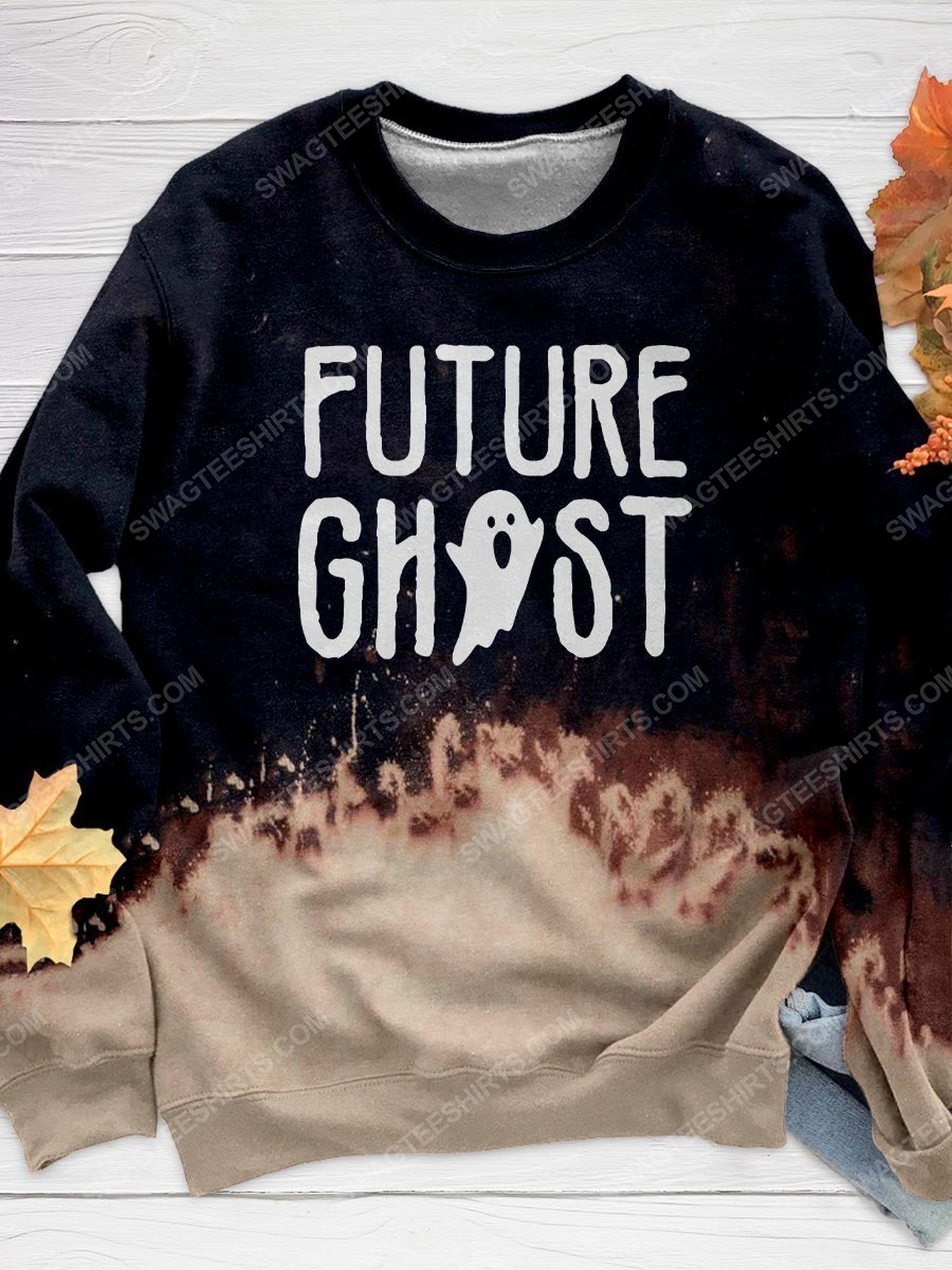 Halloween night and furture ghost full print shirt 1