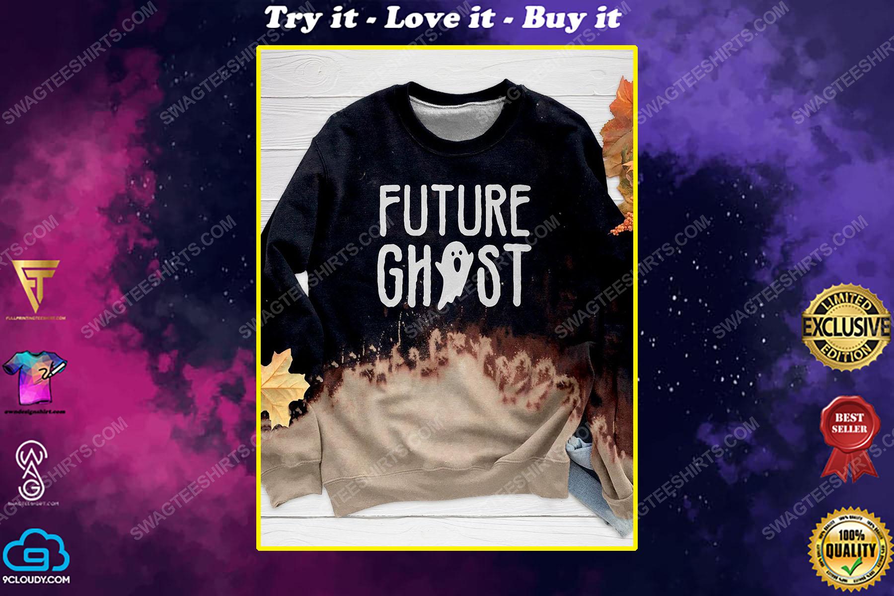 Halloween night and furture ghost full print shirt