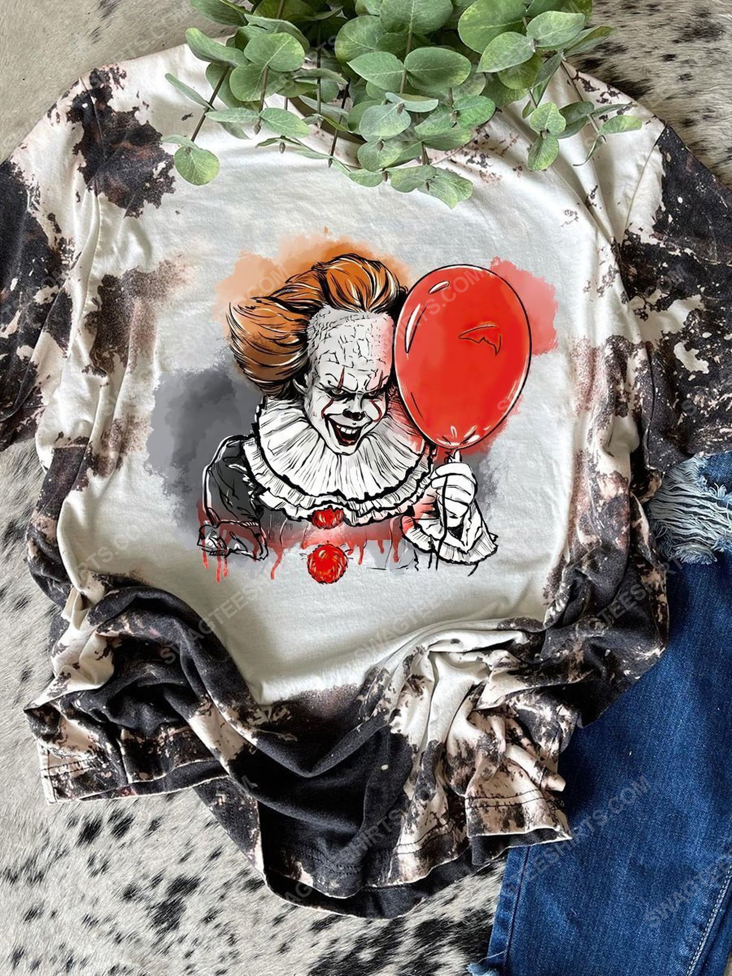 Halloween night and it pennywise full print shirt 1 - Copy