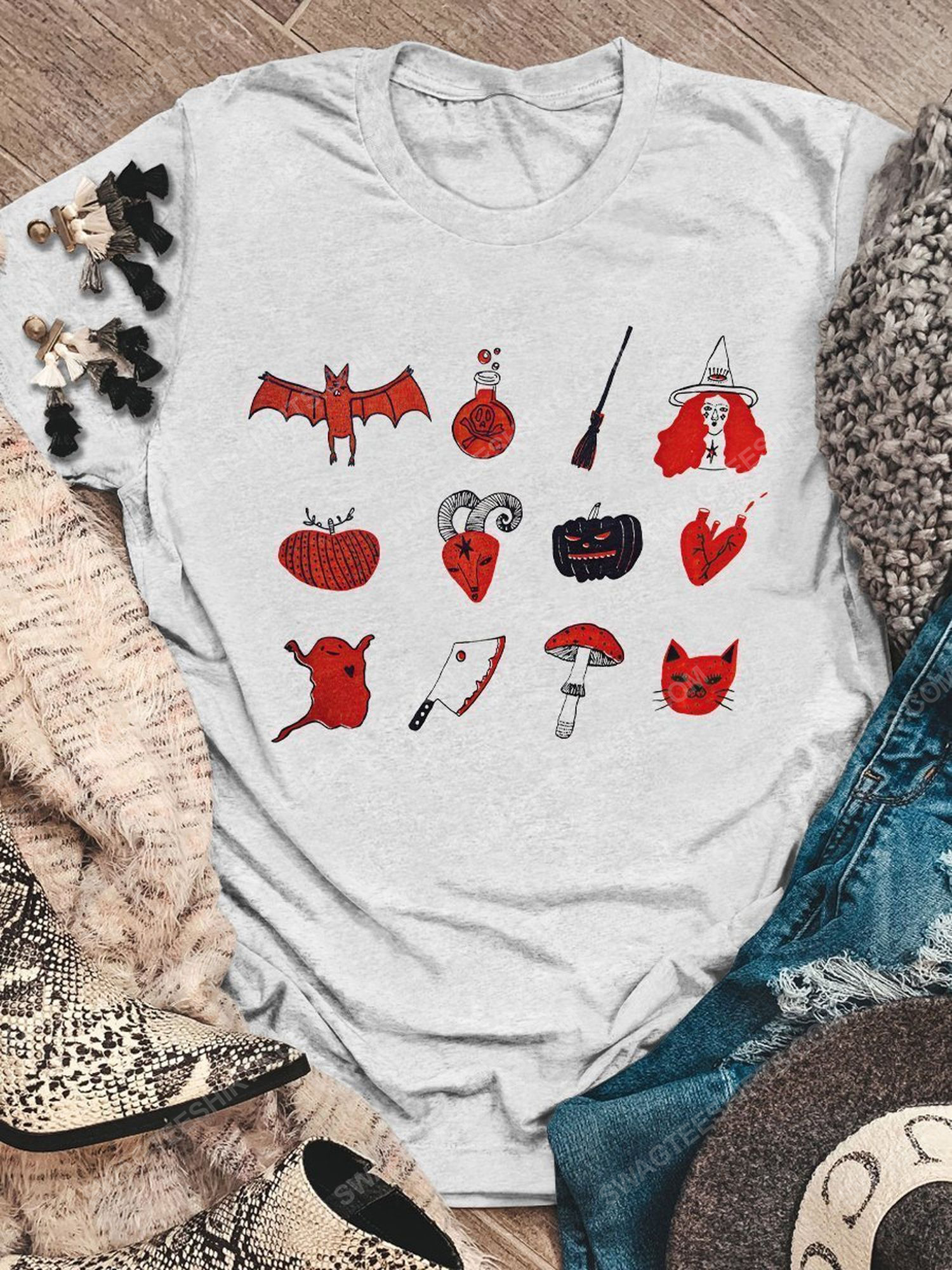 Halloween night and little things doodles shirt
