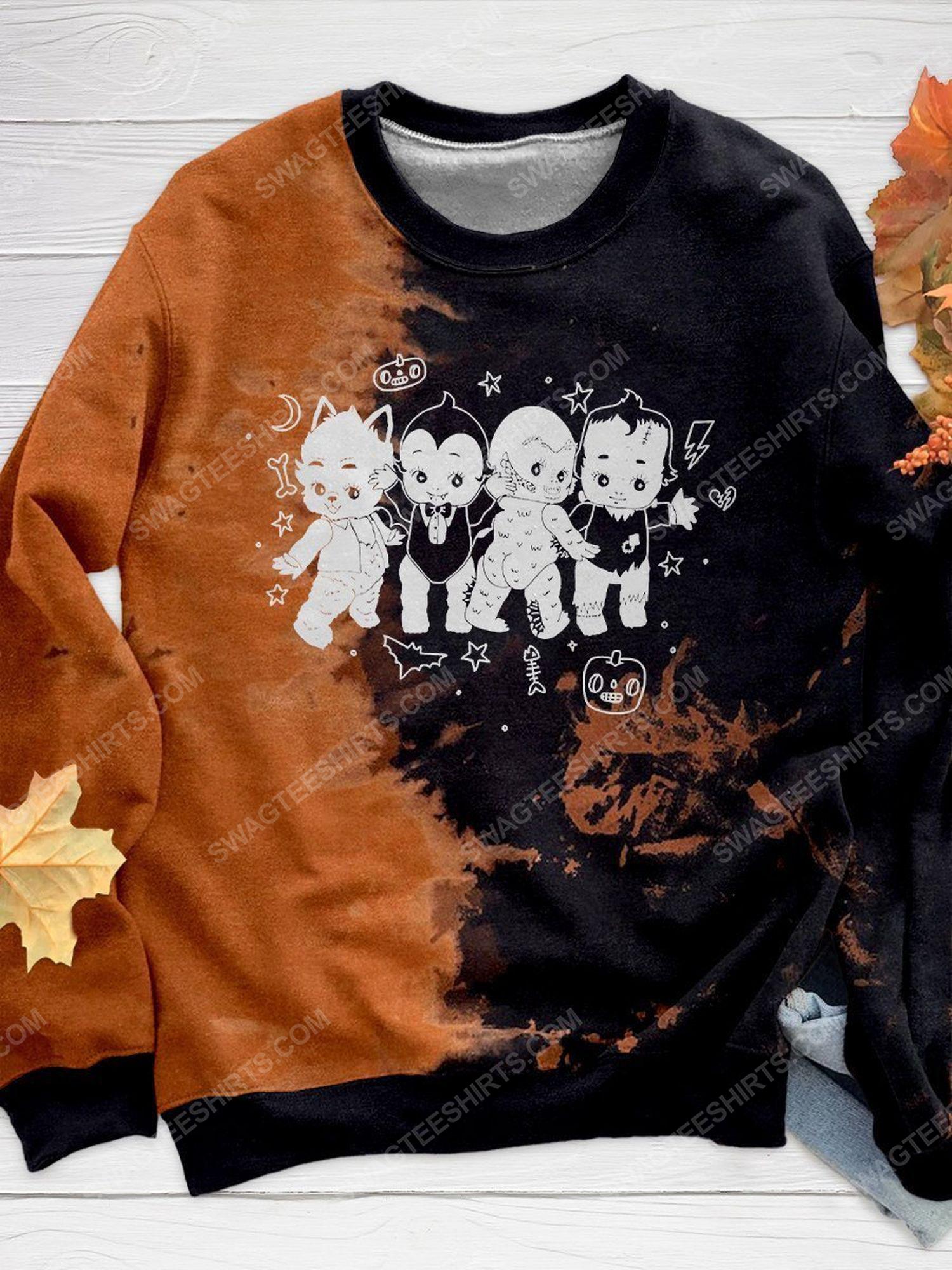 Halloween night and monster costume kewpie full print shirt 1