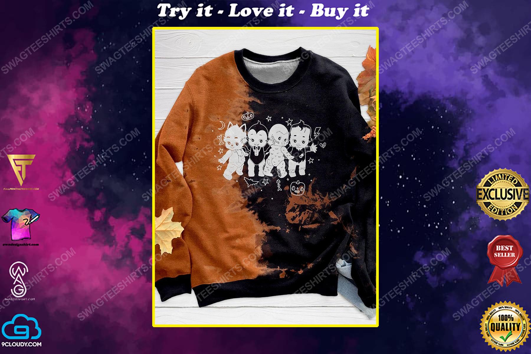 Halloween night and monster costume kewpie full print shirt