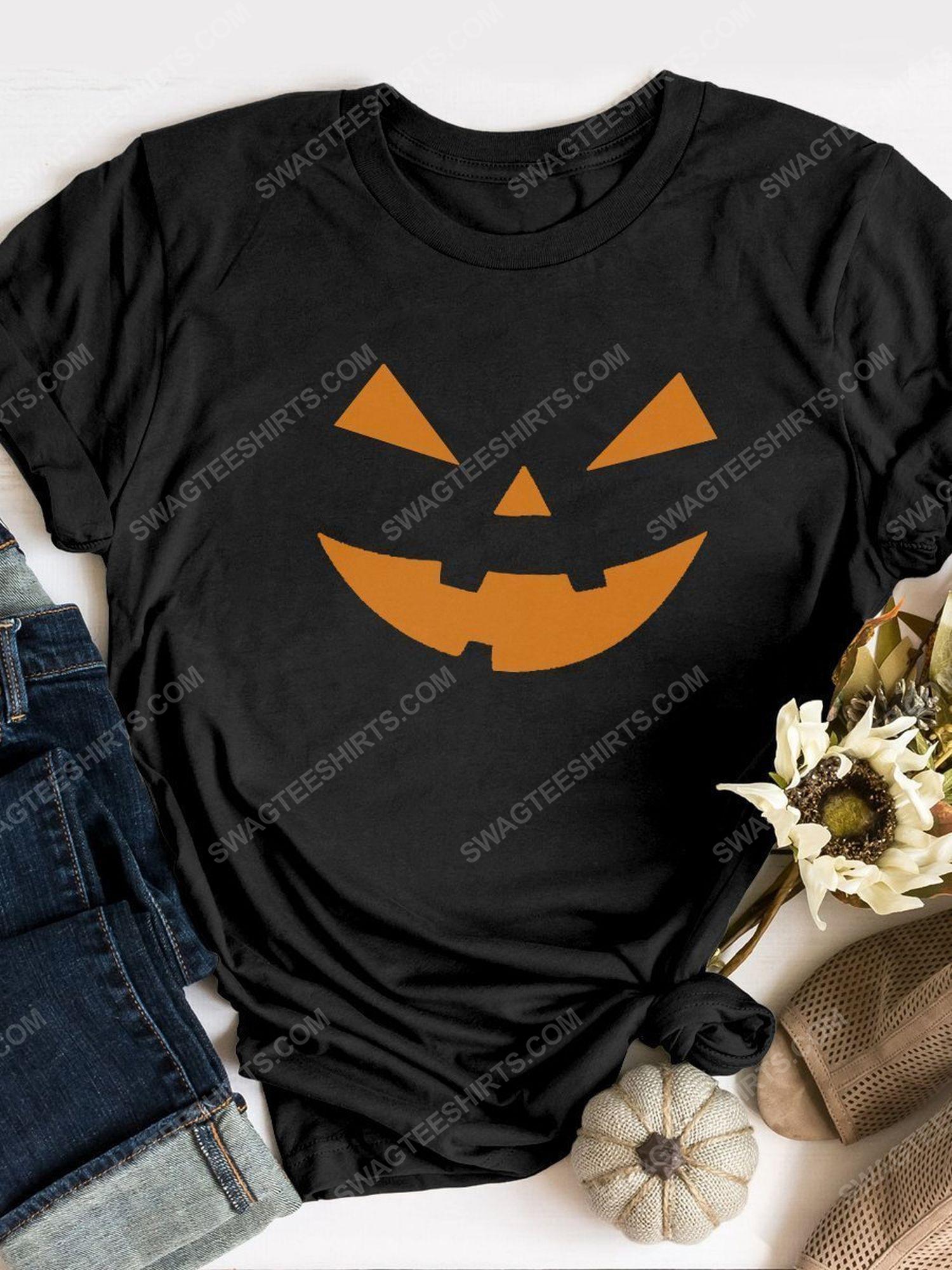 Halloween night and pumpkin face shirt 1 - Copy (2)