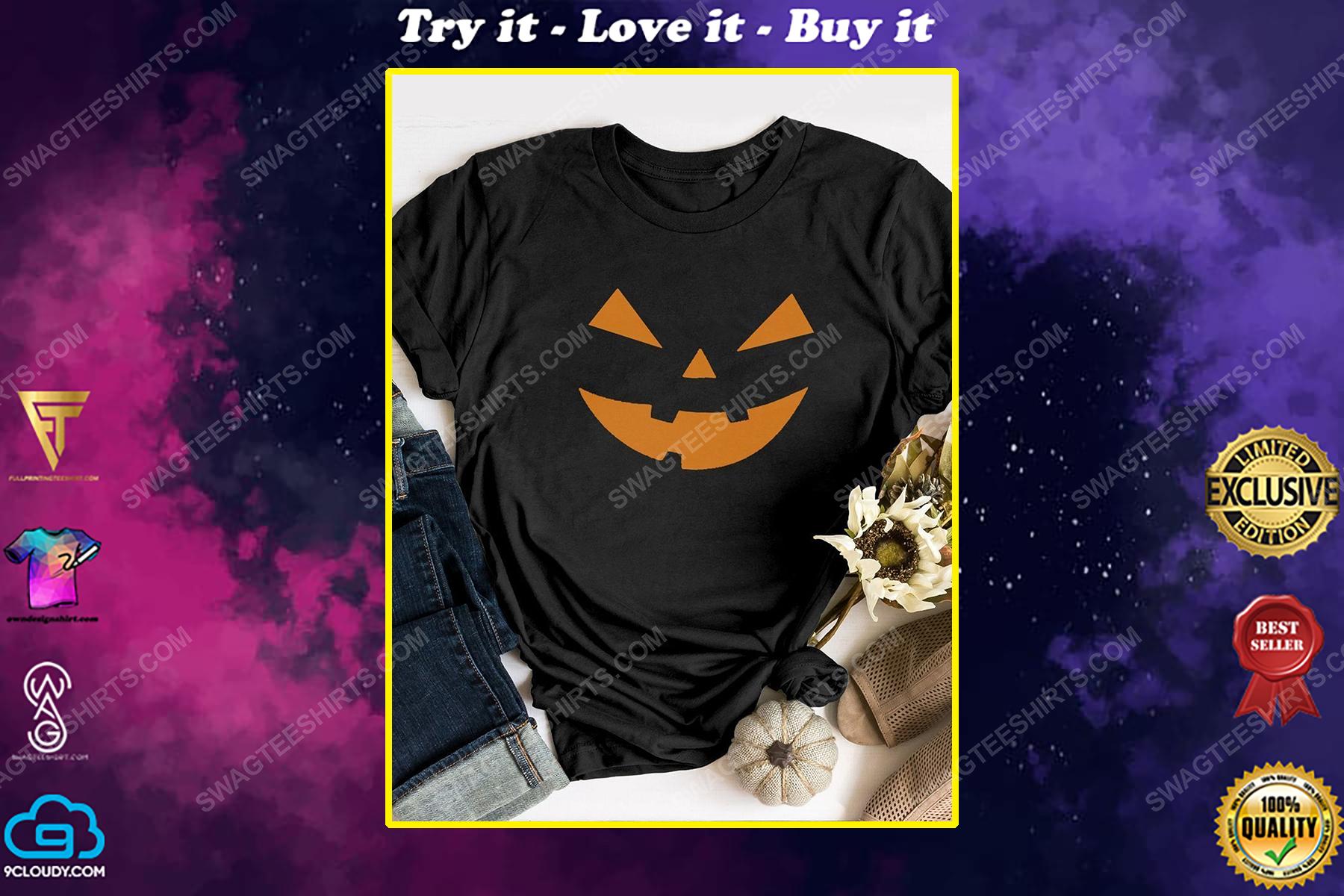 Halloween night and pumpkin face shirt
