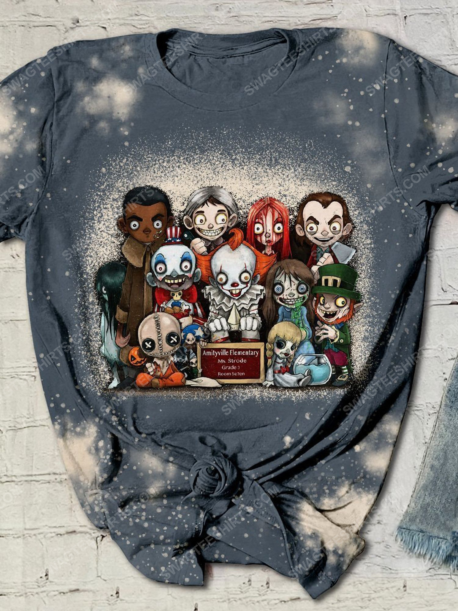 Halloween night and serial killer movies chibi bleached shirt 1 - Copy (3)