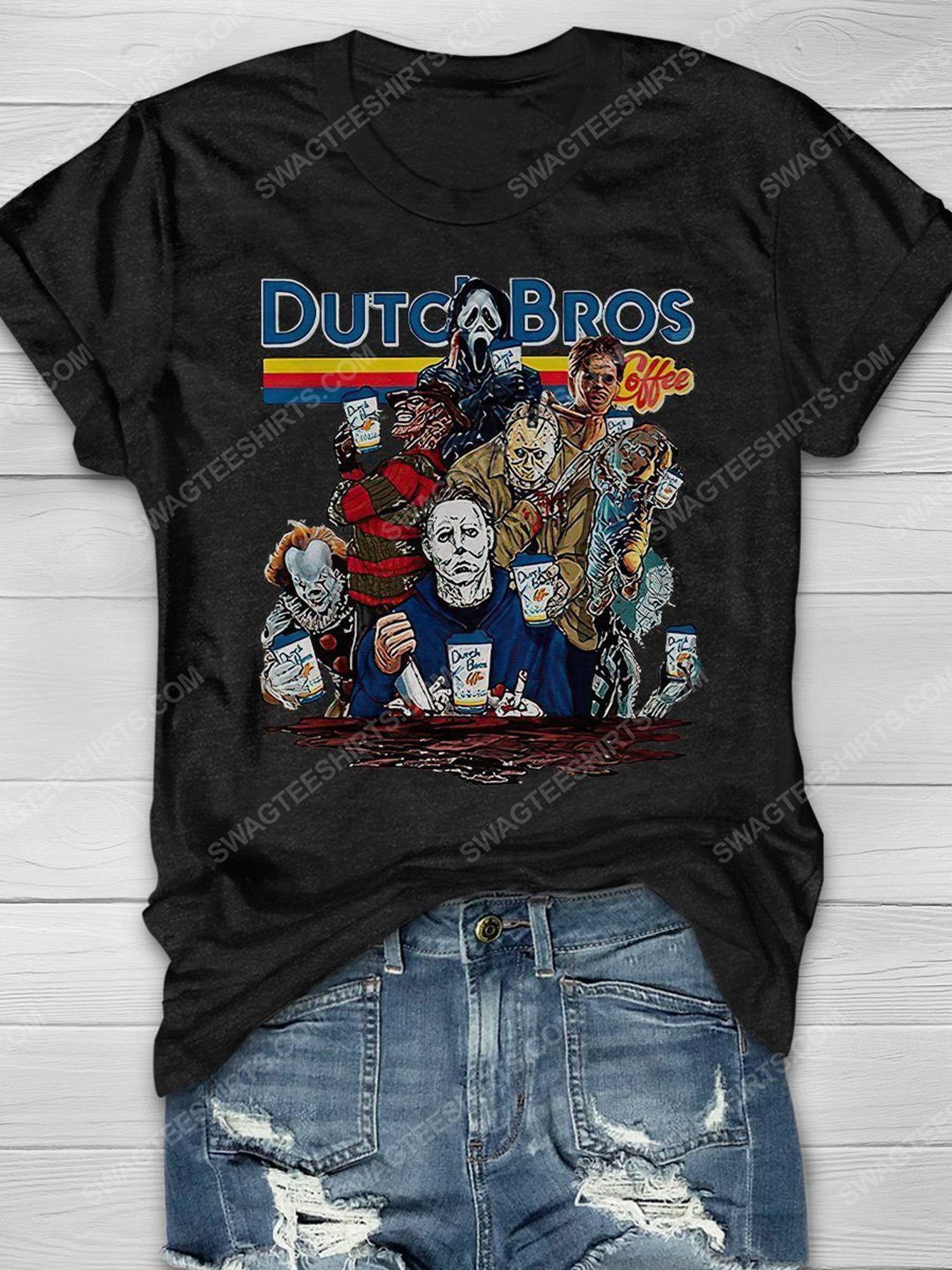 Halloween night dutch bros coffee serial killers shirt 1