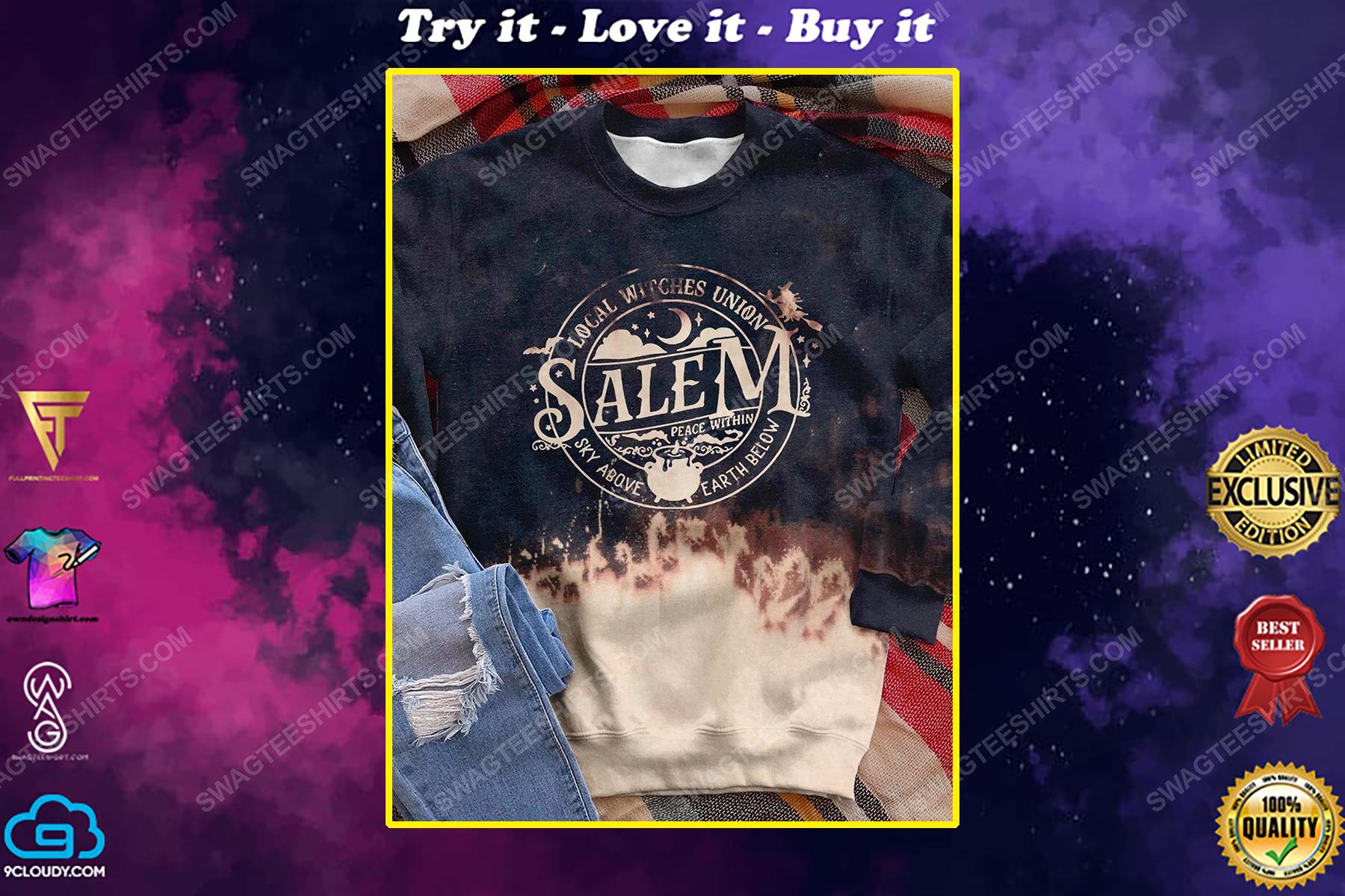 Halloween night local witches union salem shirt
