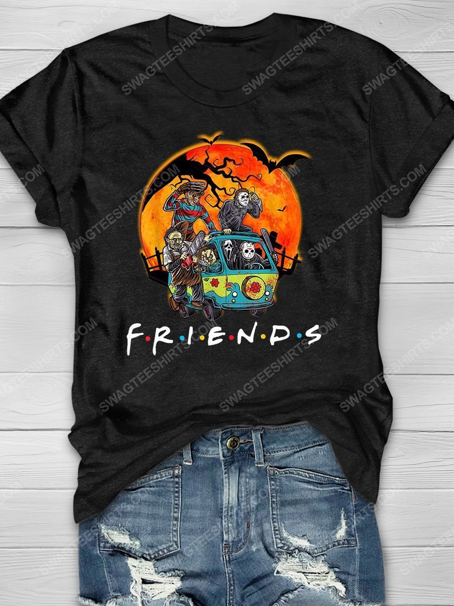 Halloween night with serial killers friends tv show shirt 1