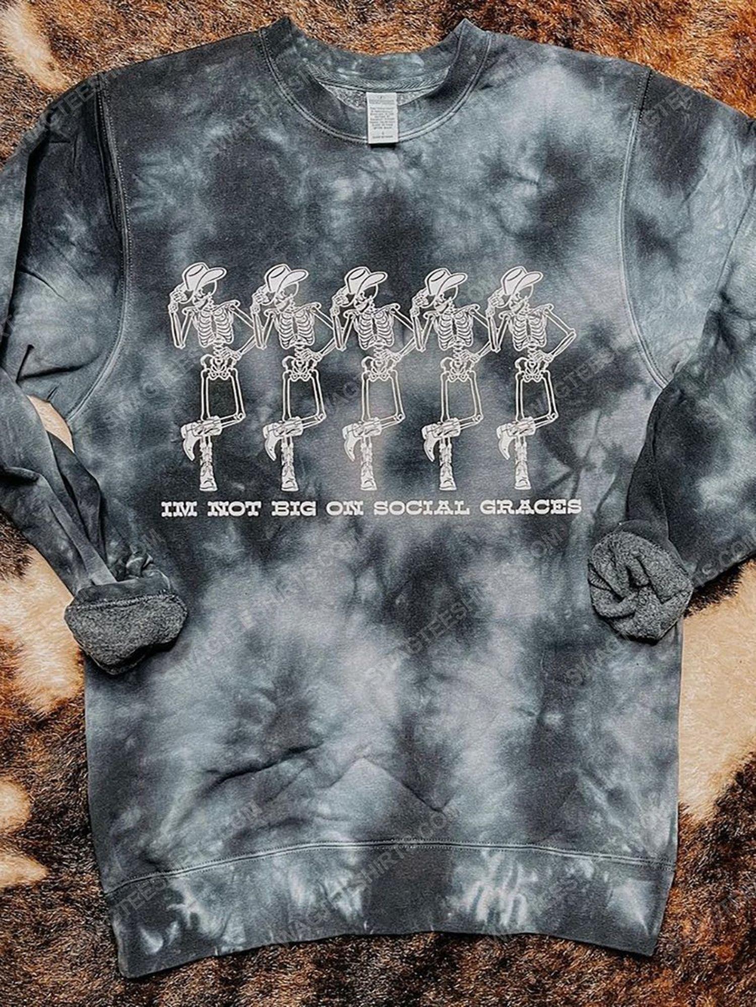 Halloween skull i'm not big on social graces full print shirt 1 - Copy (3)
