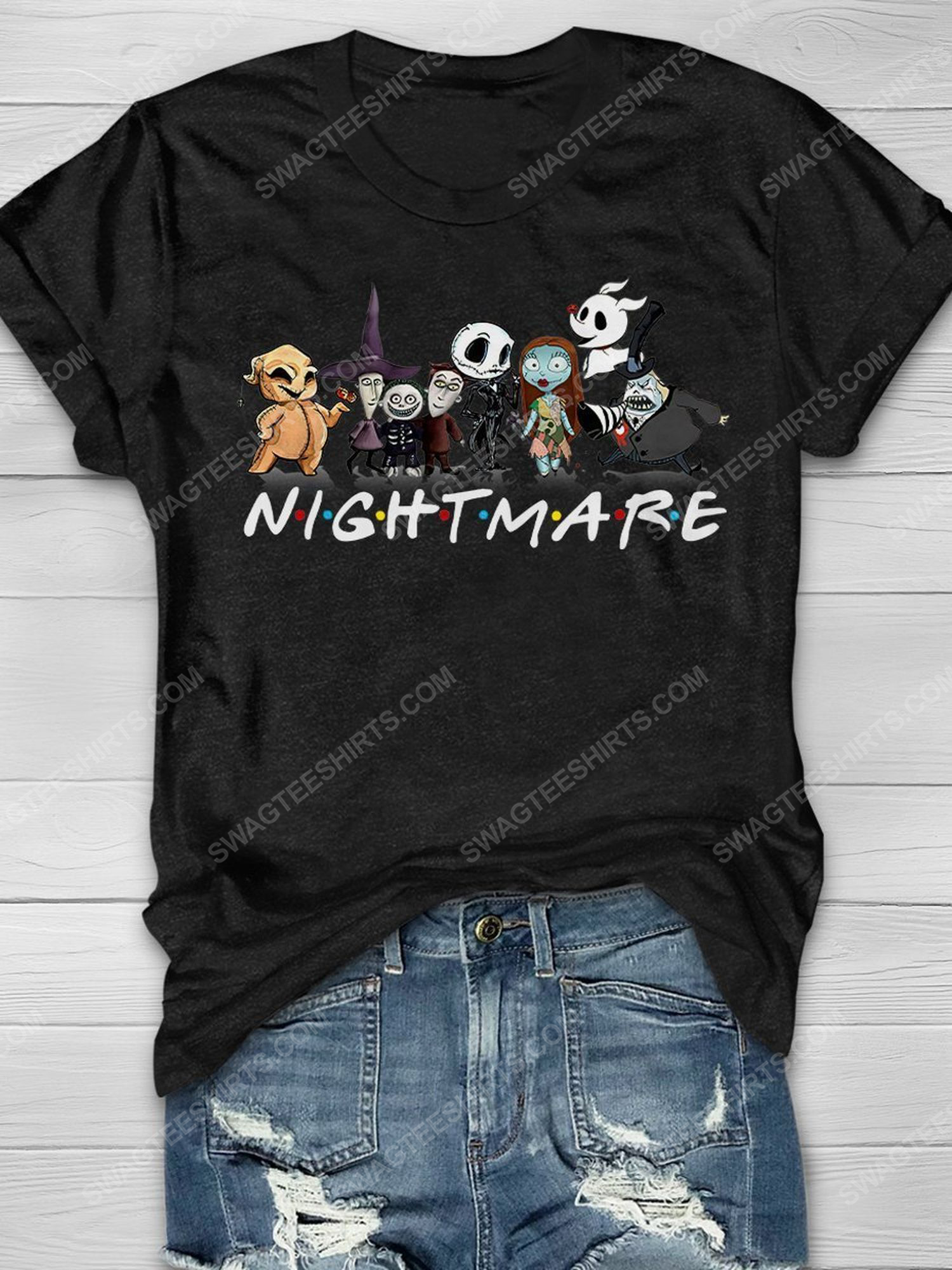 Halloween the nightmare before christmas chibi friends tv show shirt 1 - Copy (2)