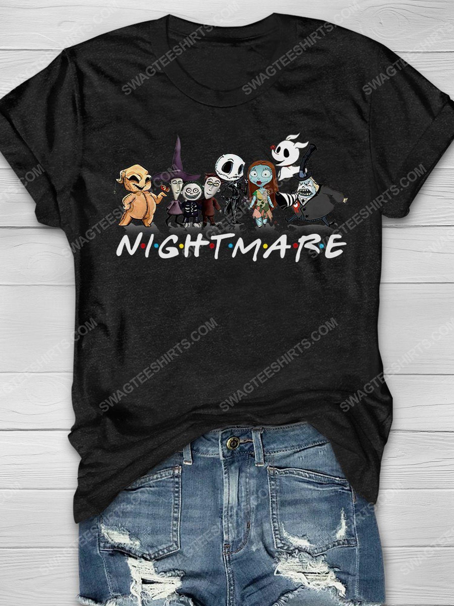 Halloween the nightmare before christmas chibi friends tv show shirt 1