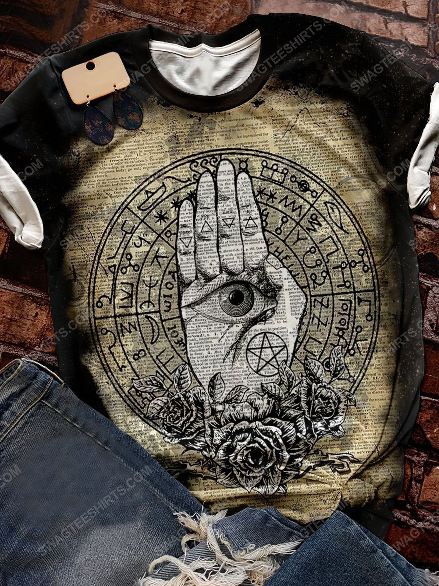 Halloween time and hamsa witchcraft full print shirt 1 - Copy (2)