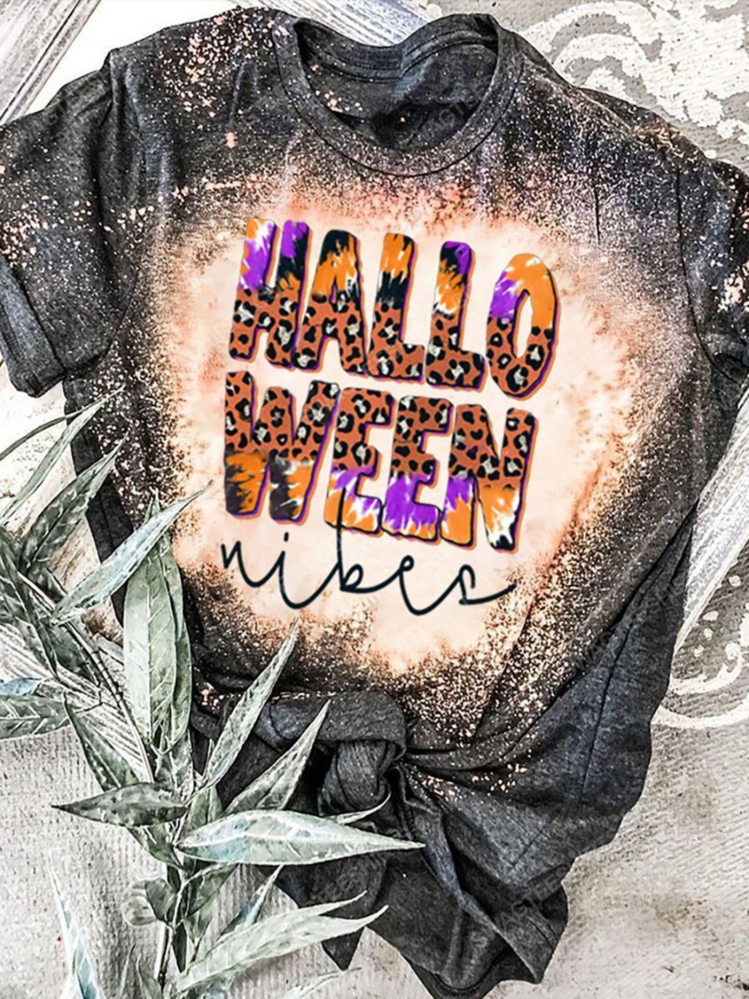 Halloween vibes leopard bleached shirt 1