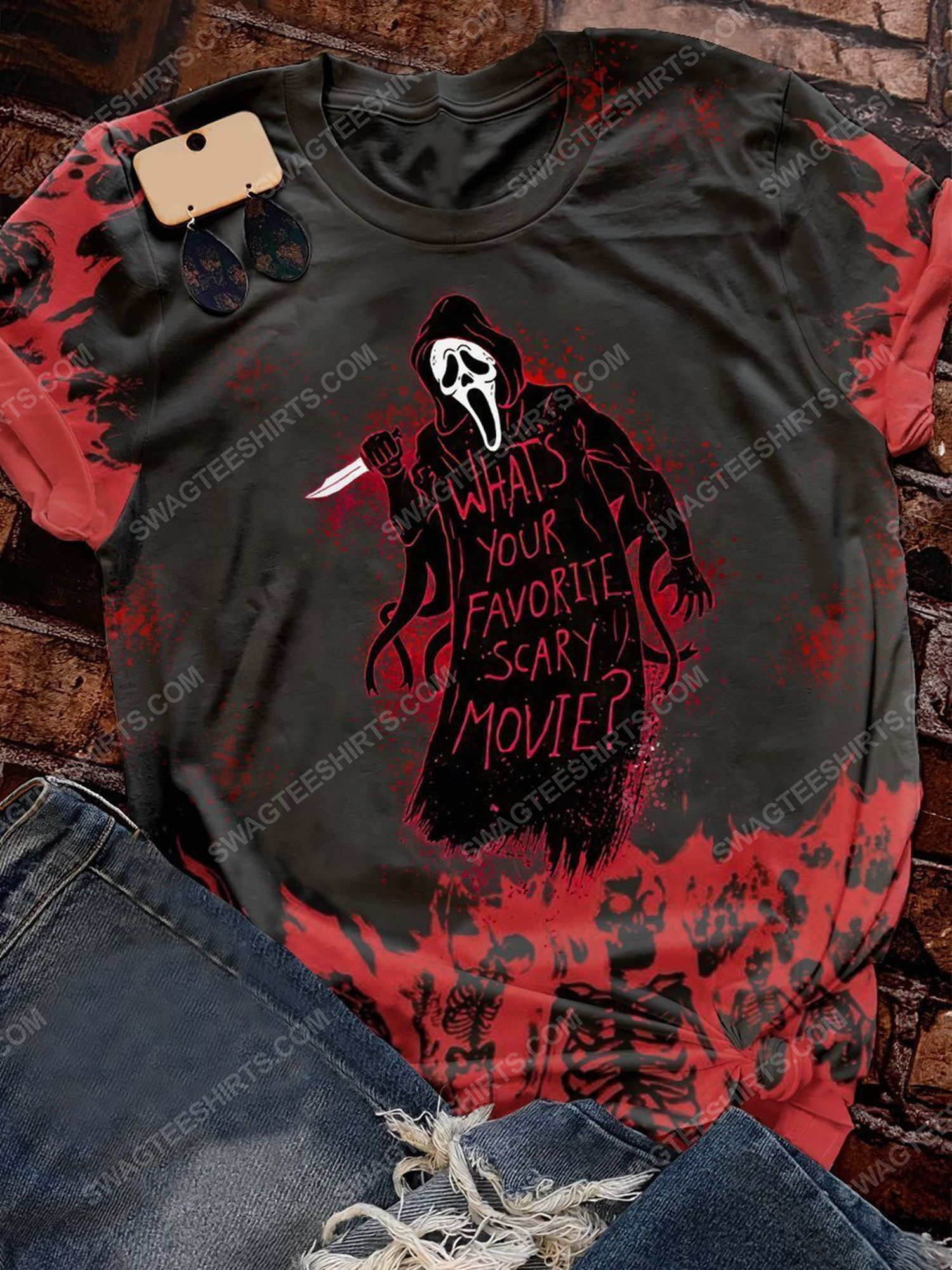 Halloween what's your favorite scary movie screaming movie shirt 1 - Copy (2)