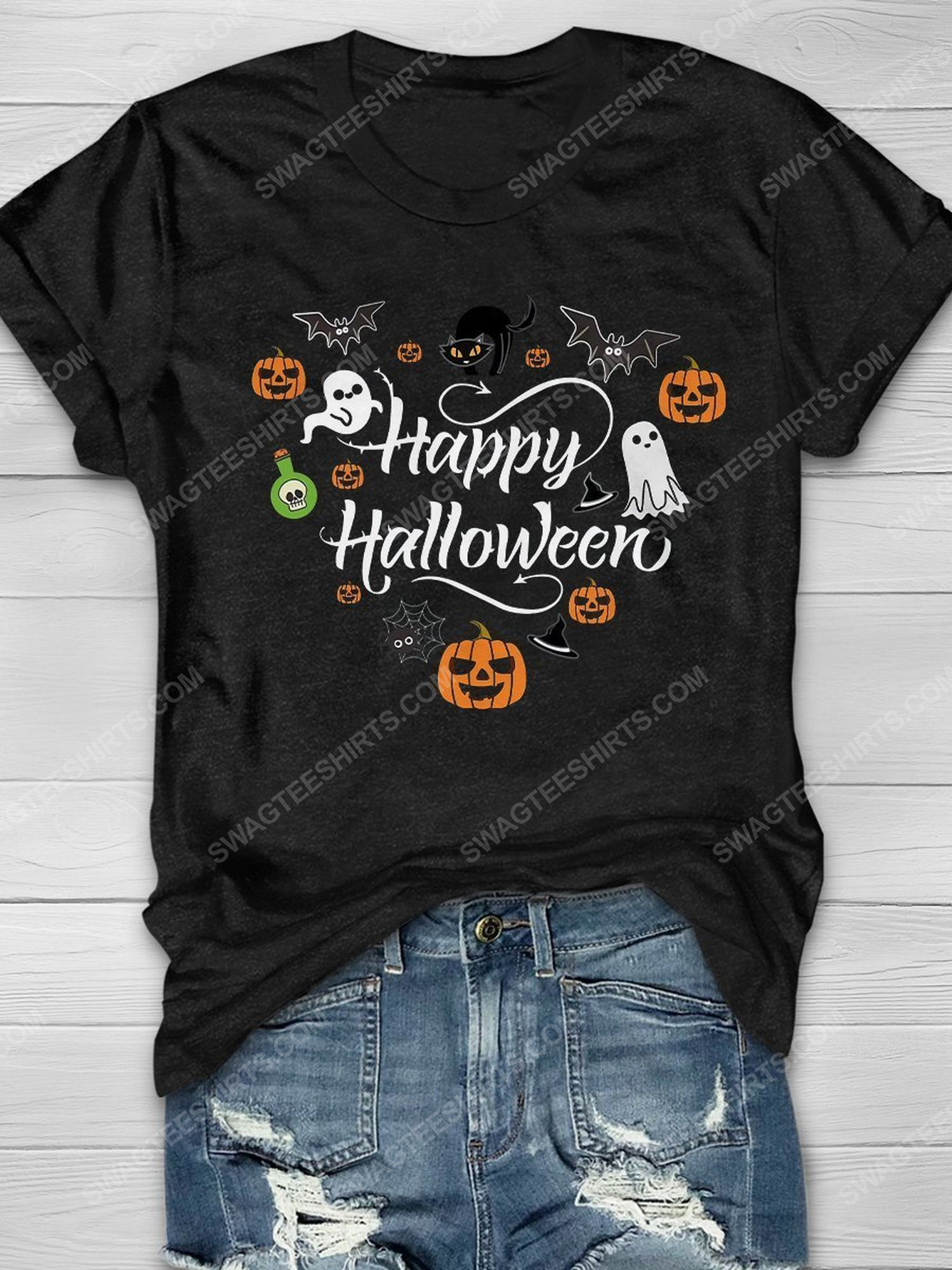 Happy halloween and little things doodle shirt