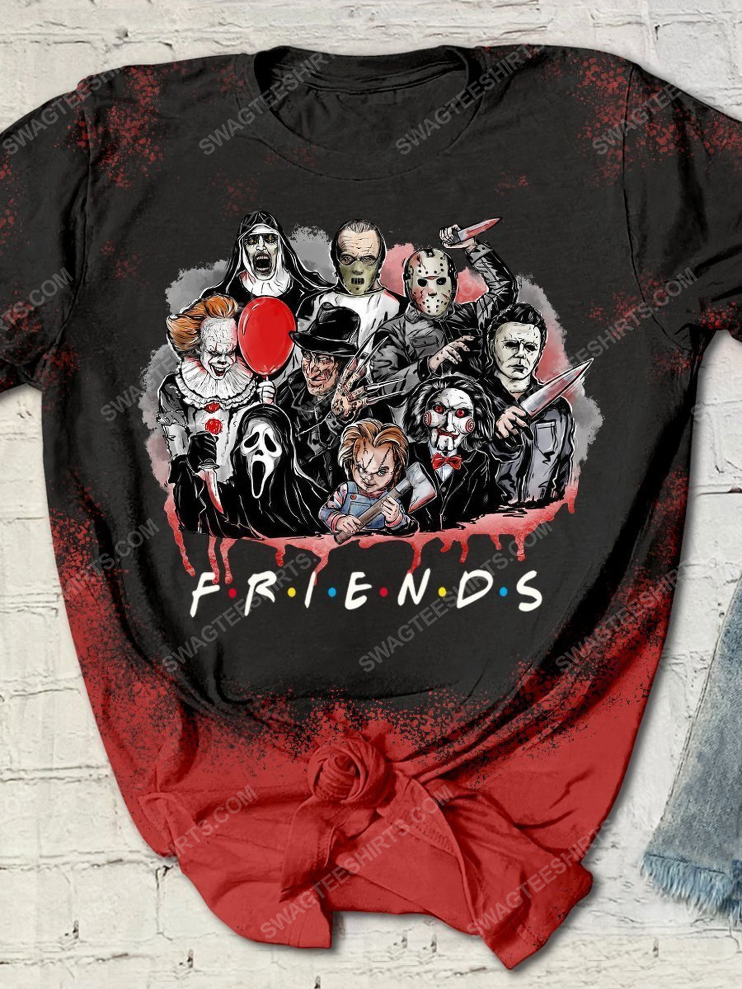 Happy halloween with serial killers friends tv show shirt 1 - Copy (2)