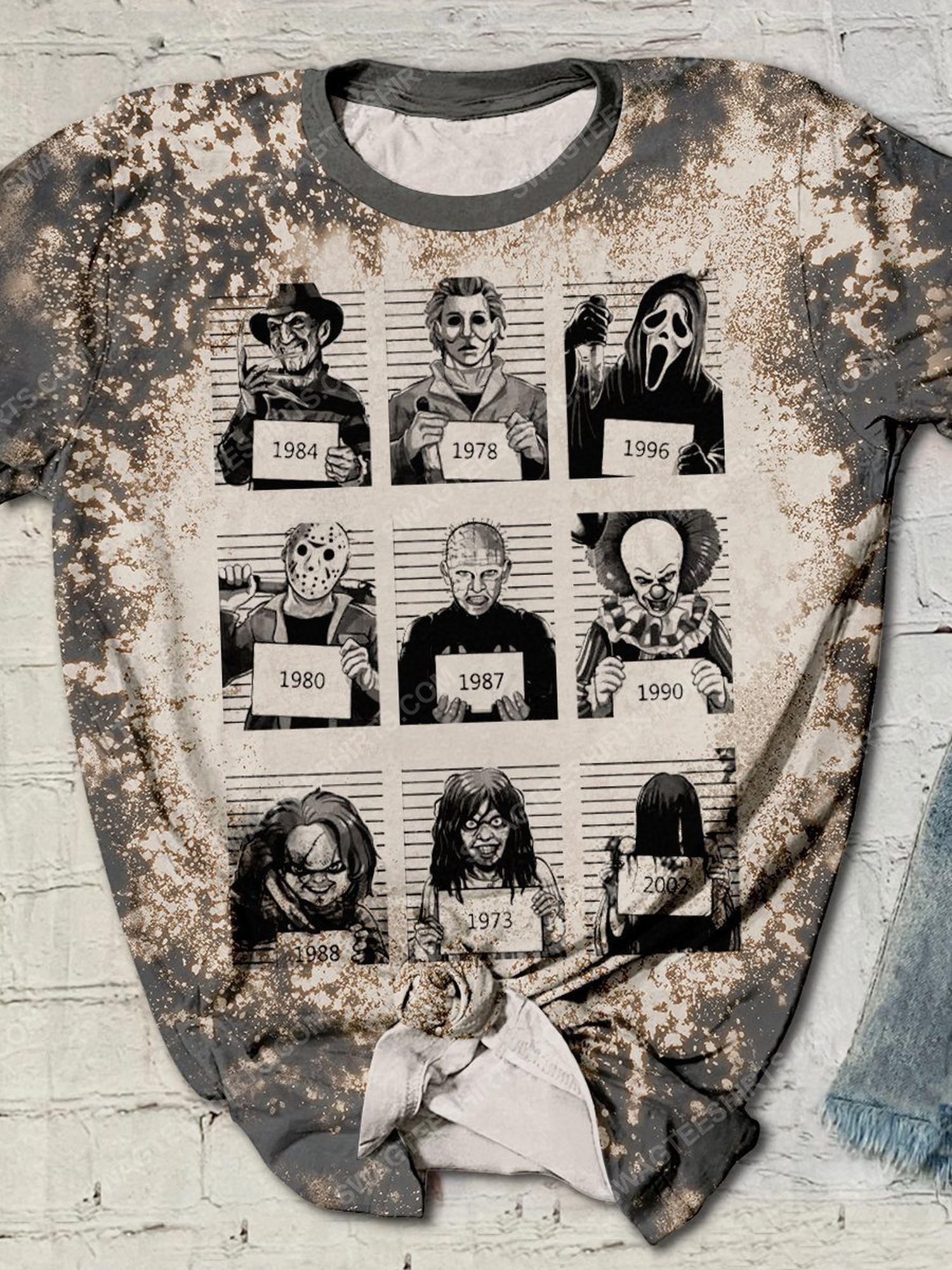 Horror movie characters in halloween night full print shirt 1 - Copy (2)