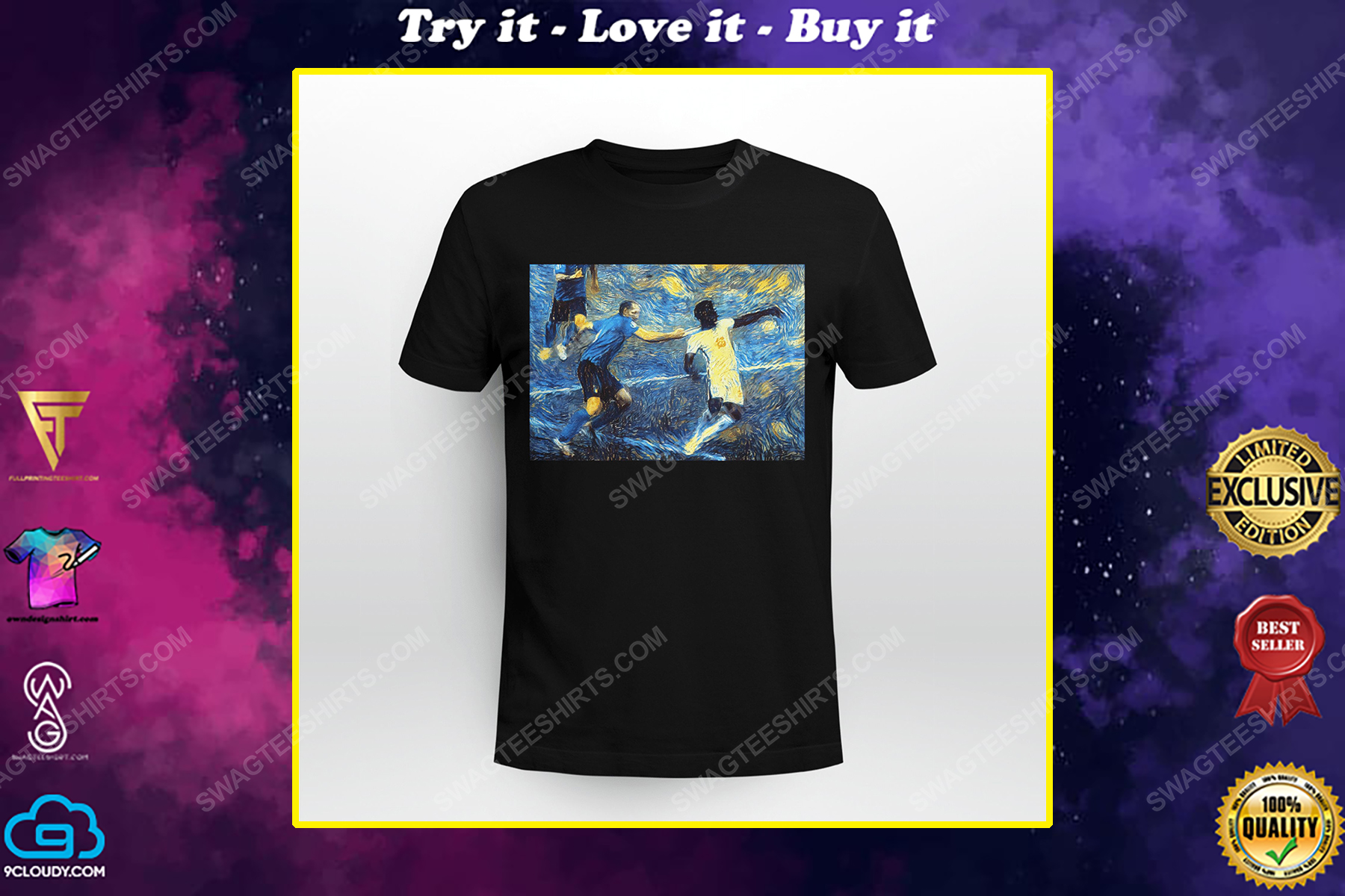It's coming rome italy starry night shirt