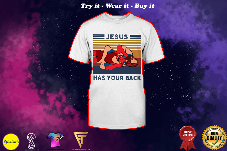 Jesus jiu jitsu has my back vintage shirt
