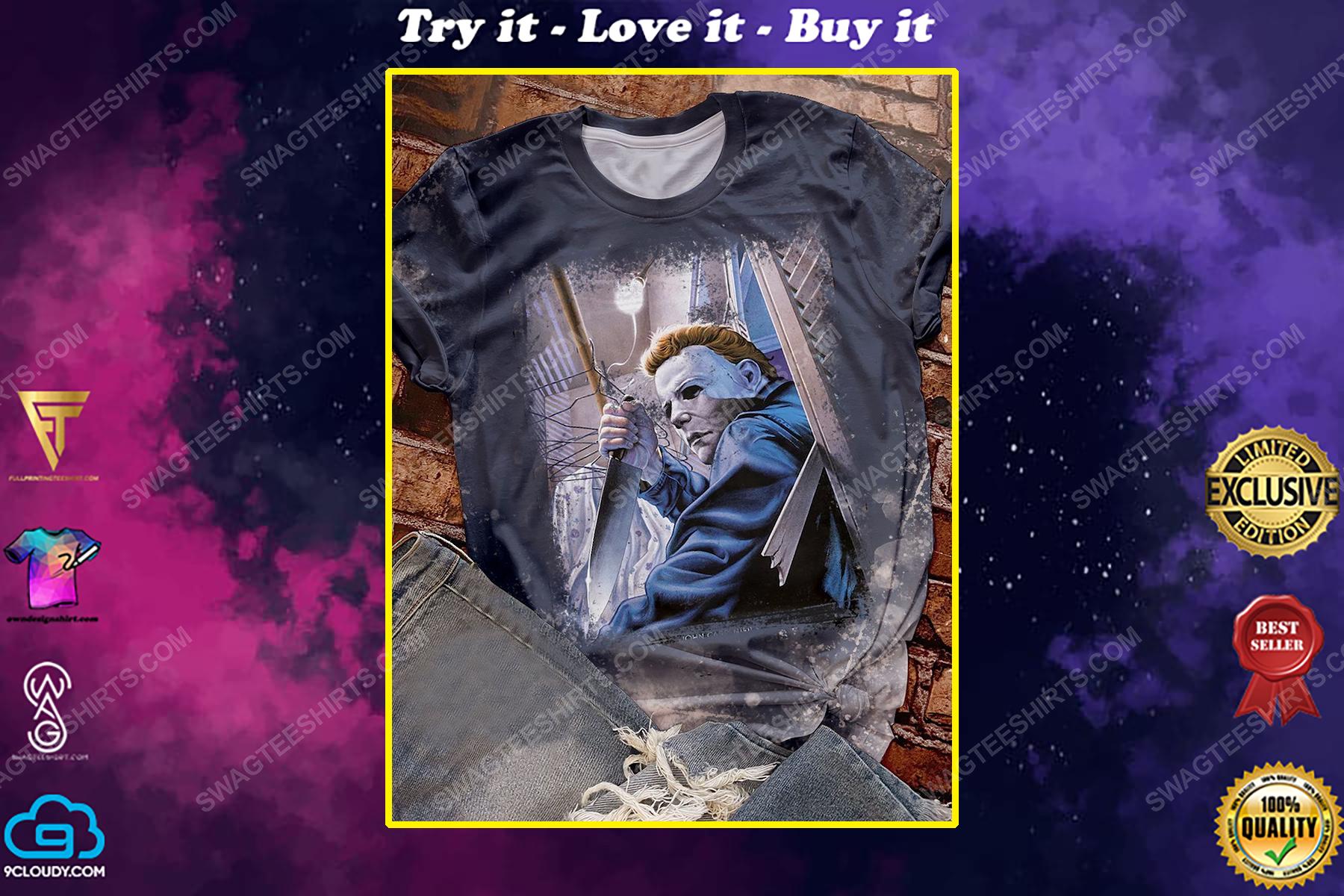 Michael myers in halloween night full print shirt