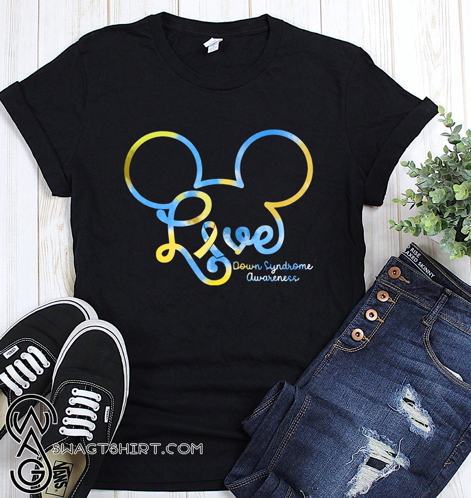 Mickey mouse down syndrome awareness shirt