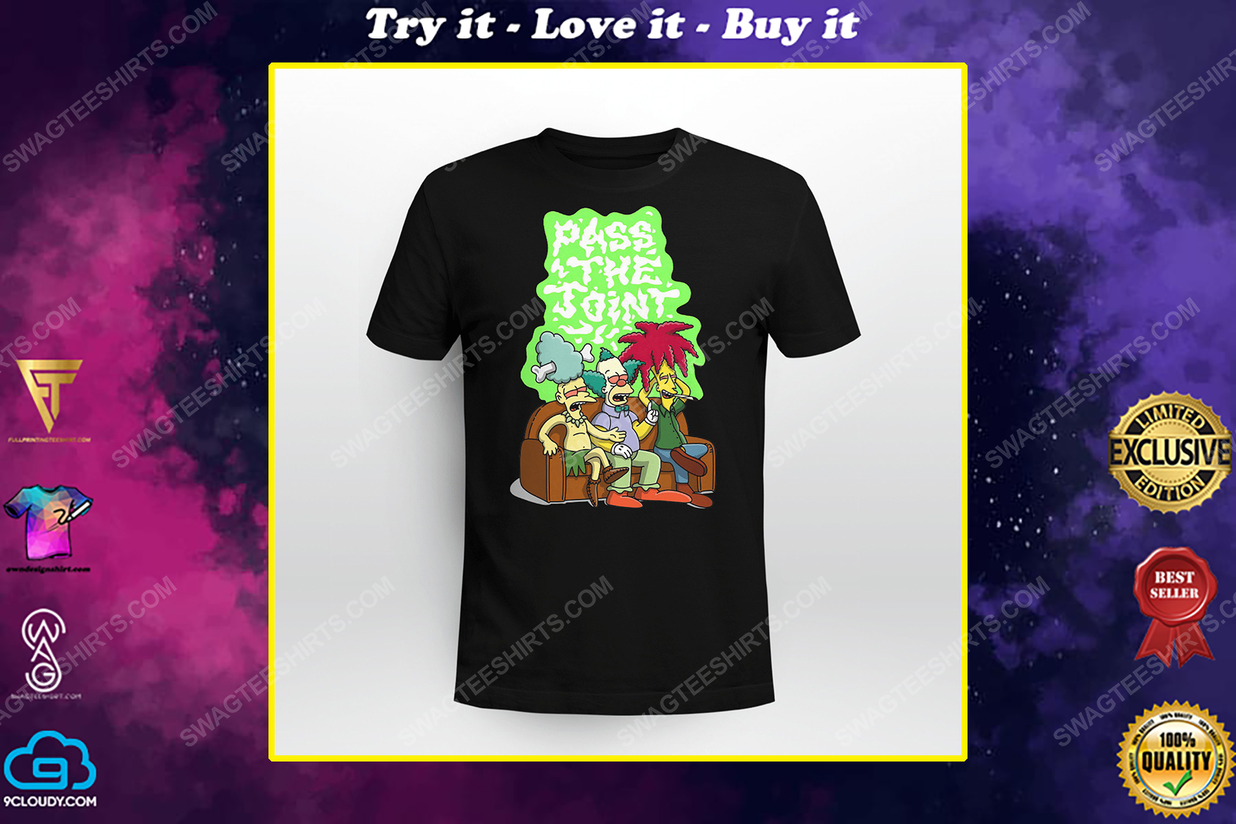 Pass the joint the simpsons tv show shirt