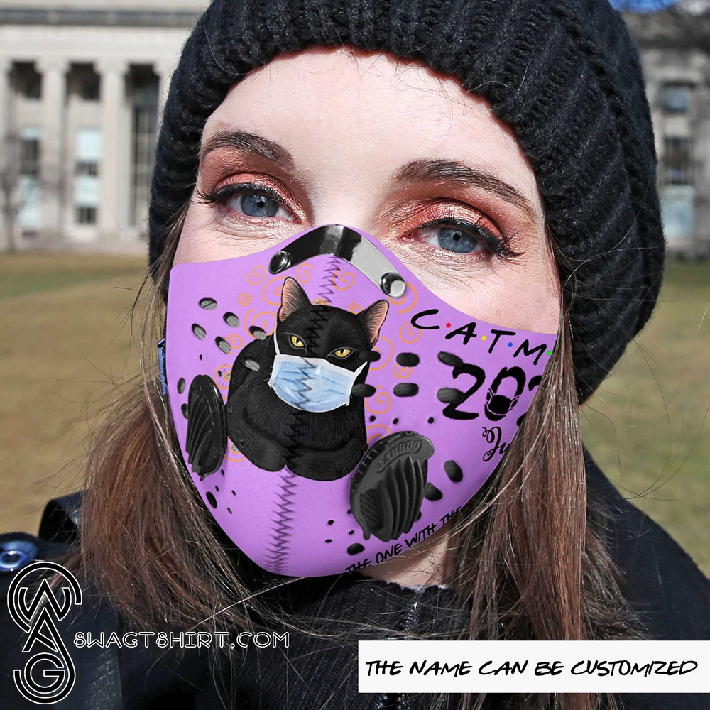 Personalized cat mom the one with the pandemic carbon pm 2,5 face mask